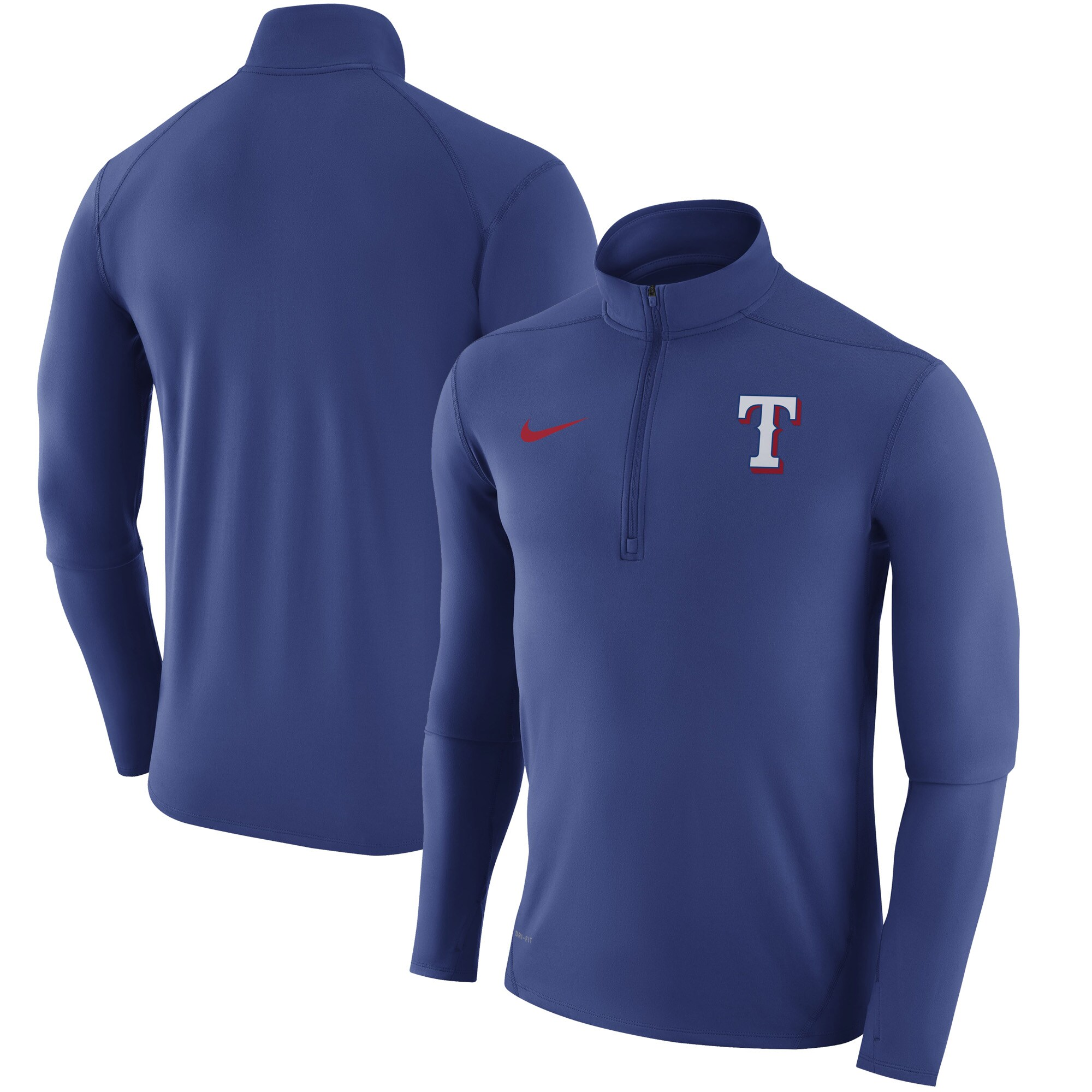 Texas Rangers Nike Element Half-Zip Performance Top - Royal