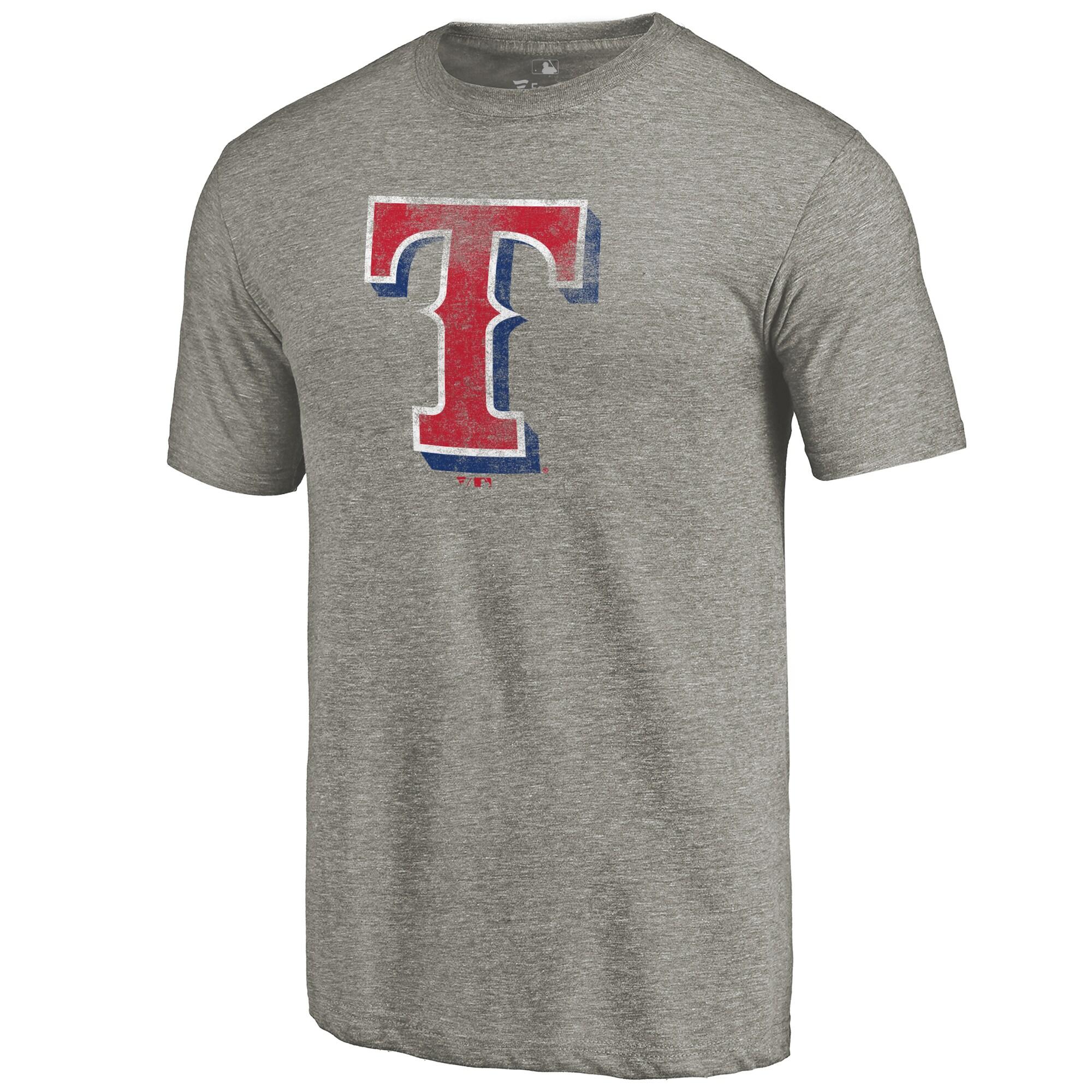 Texas Rangers Distressed Team Tri-Blend T-Shirt - Ash