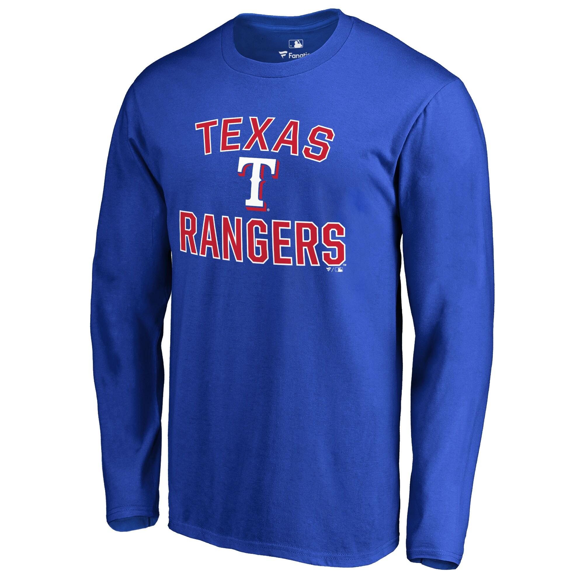 Texas Rangers Victory Arch Long Sleeve T-Shirt - Royal