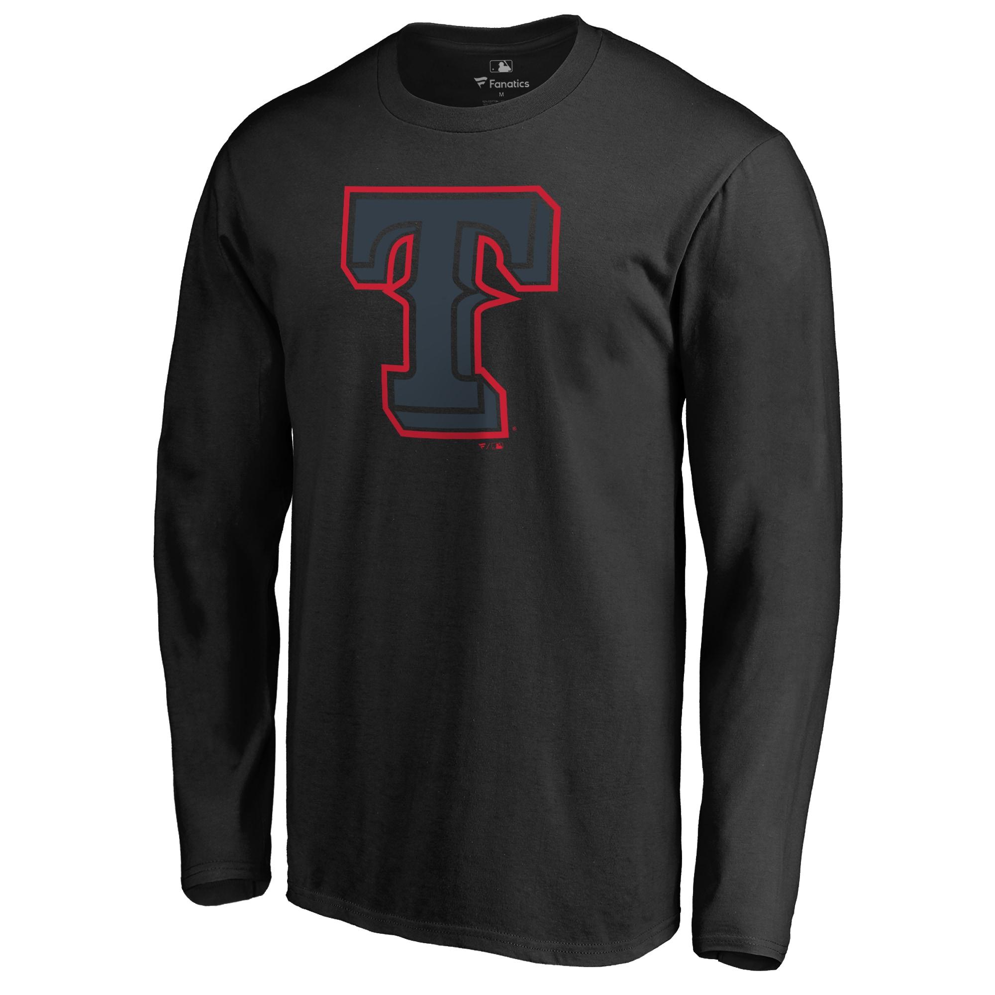 Texas Rangers Taylor Long Sleeve T-Shirt - Black