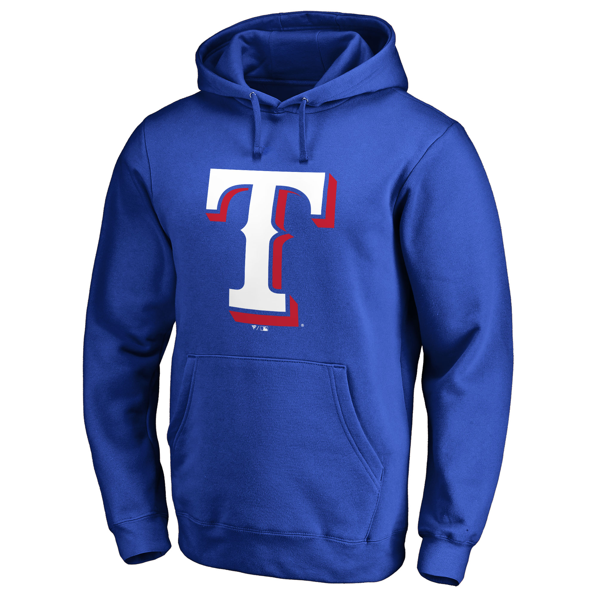 Texas Rangers Team Color Primary Logo Pullover Hoodie - Royal