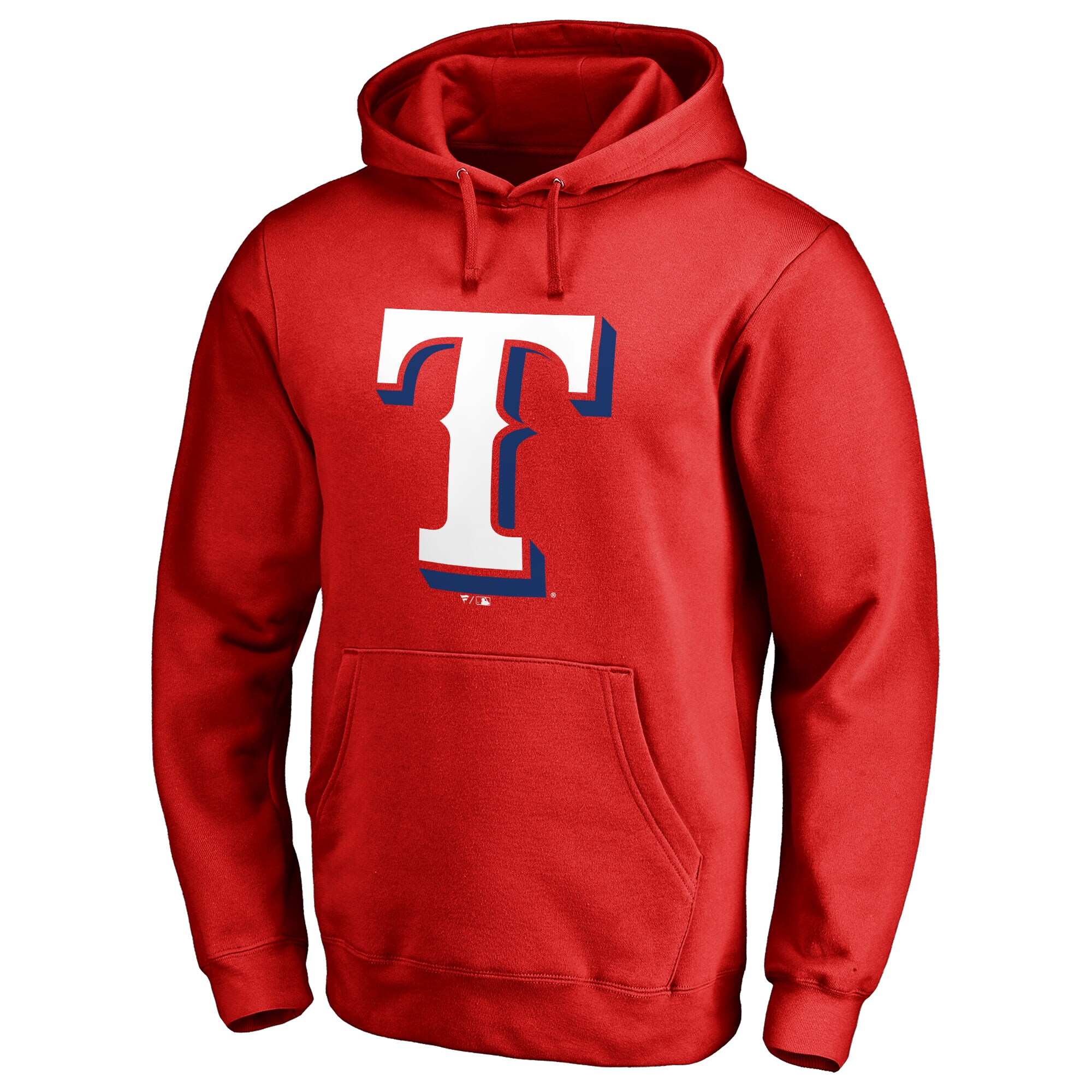 Texas Rangers Secondary Color Primary Logo Pullover Hoodie - Red