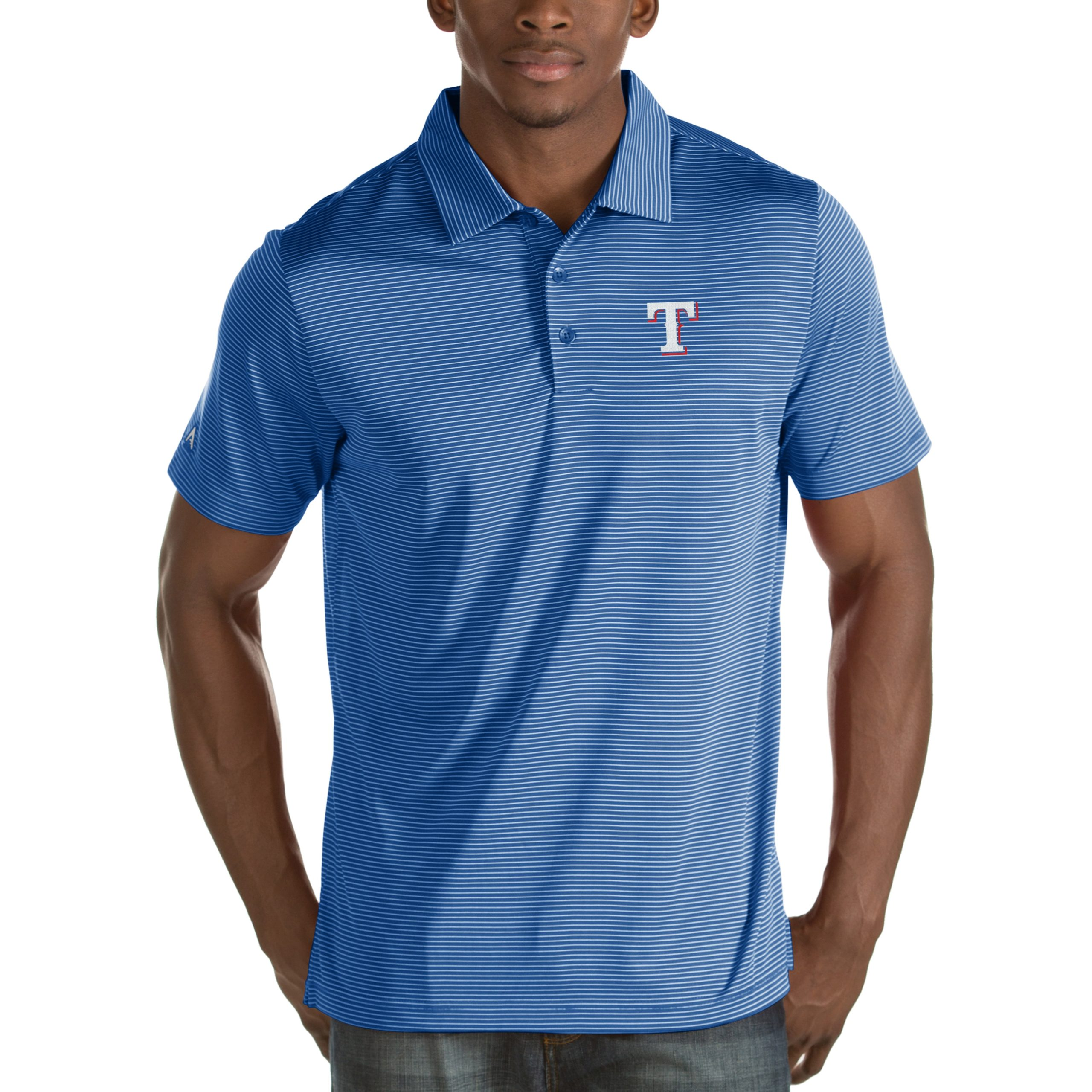 Texas Rangers Antigua Quest Desert Dry Polo - Royal