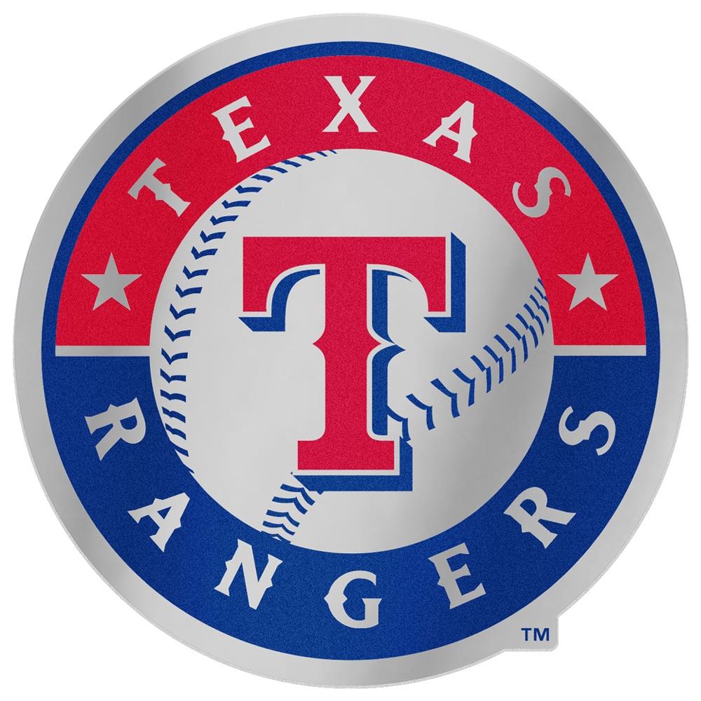 "Texas Rangers WinCraft 5"" x 2.5"" Auto Emblem Decal"