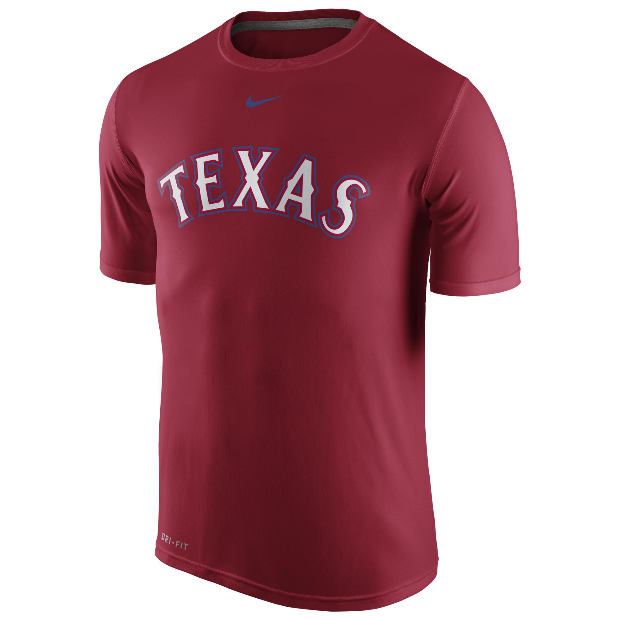 Texas Rangers Nike Legend Wordmark 1.5 Performance T-Shirt - Red