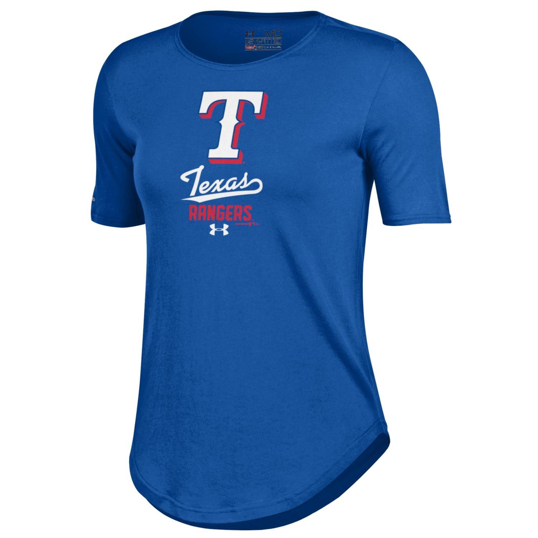 Texas Rangers Under Armour Women's Crew Performance T-Shirt - Royal