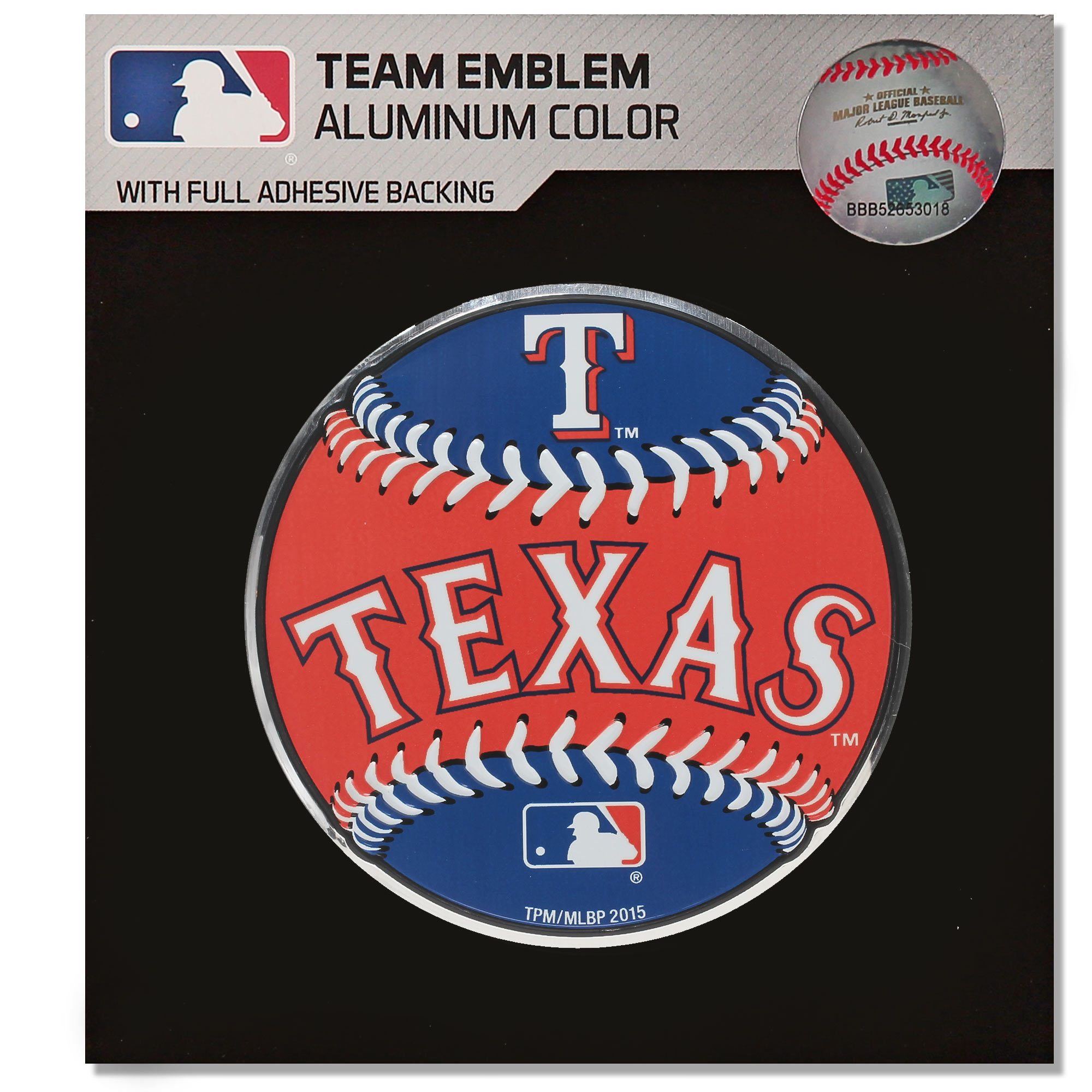 Texas Rangers Baseball Emblem Decal