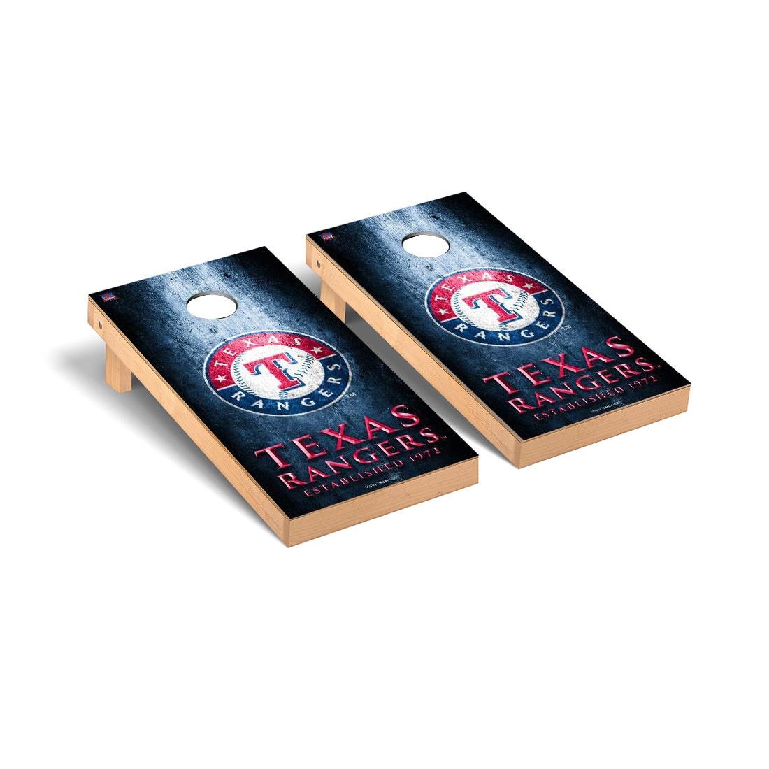 Texas Rangers 2' x 4' Metal Cornhole Board Tailgate Toss Set