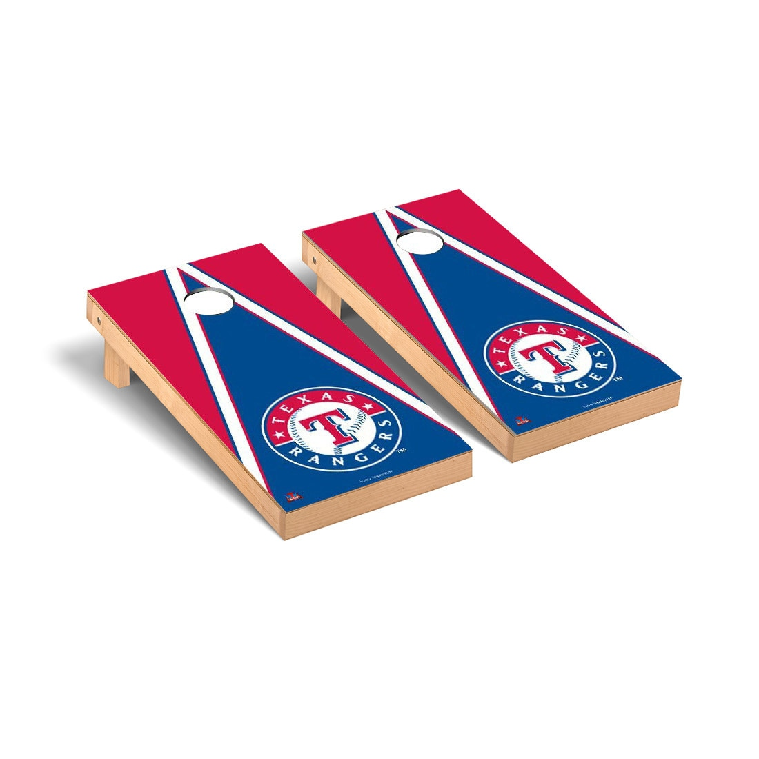 Texas Rangers 2' x 4' Triangle Cornhole Board Tailgate Toss Set