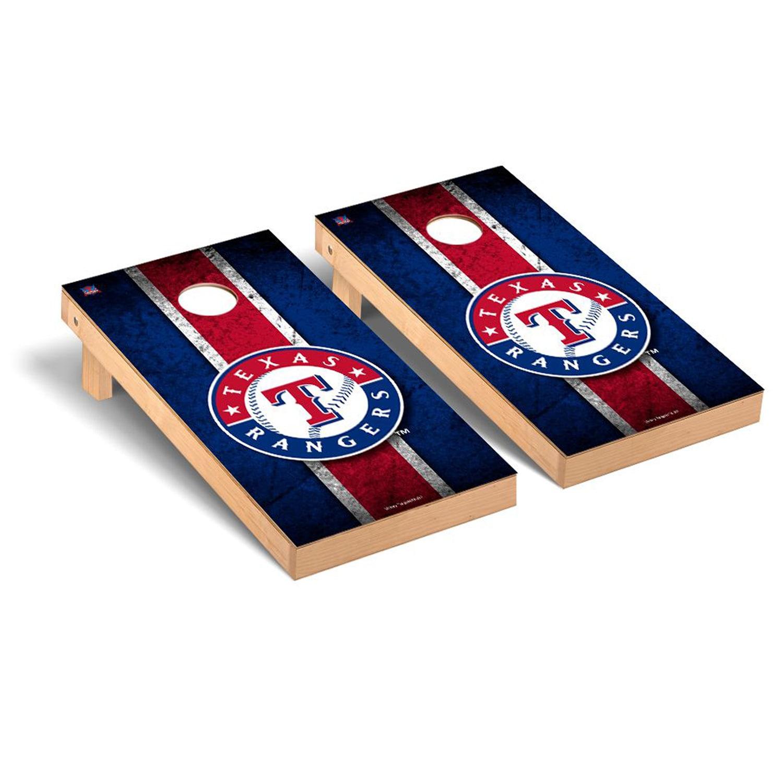Texas Rangers 2' x 4' Vintage Cornhole Board Tailgate Toss Set