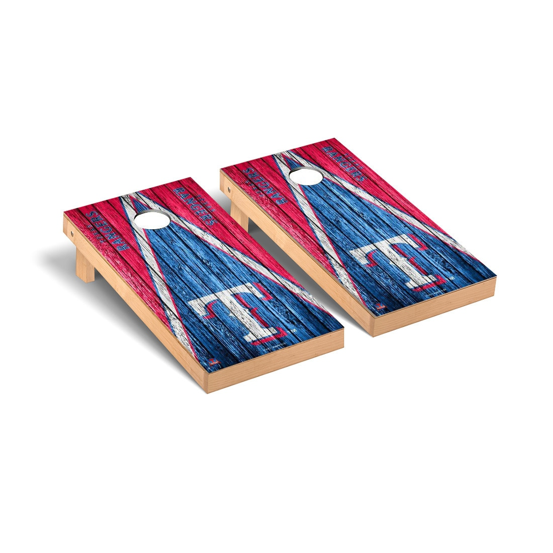 Texas Rangers 2' x 4' Weathered Cornhole Board Tailgate Toss Set