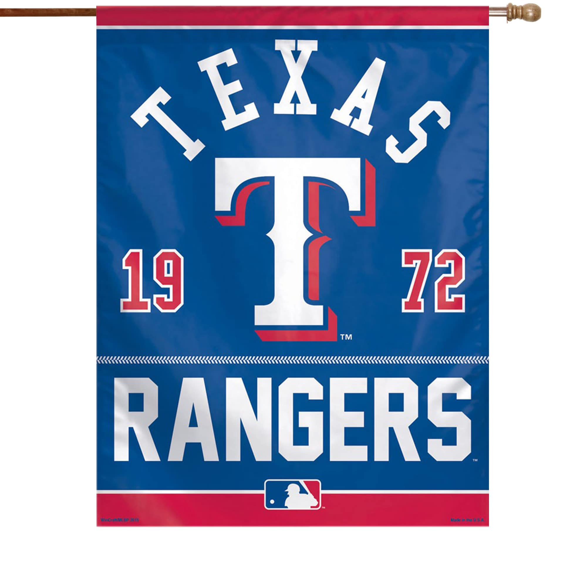 "Texas Rangers WinCraft 27"" x 37"" Single-Sided Vertical Banner Flag"