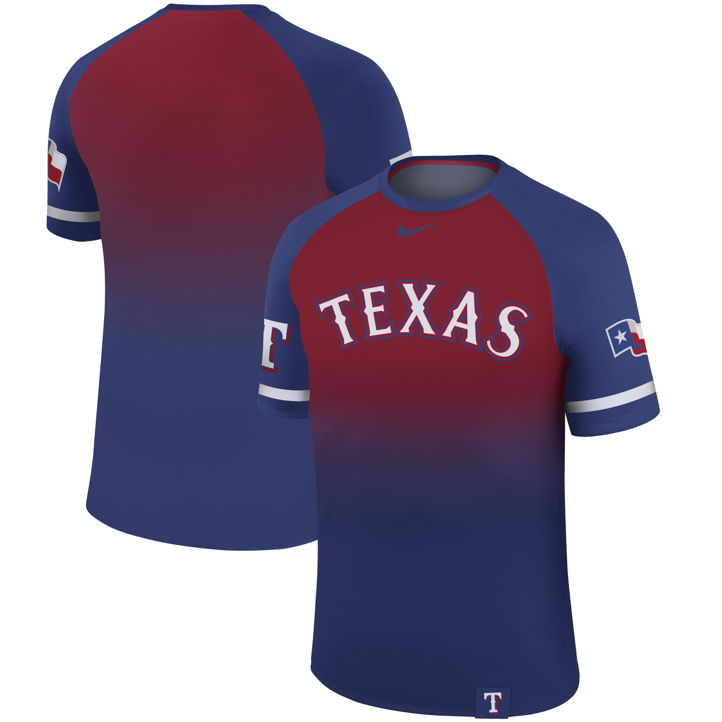 Texas Rangers Nike Legend Raglan T-Shirt - Royal