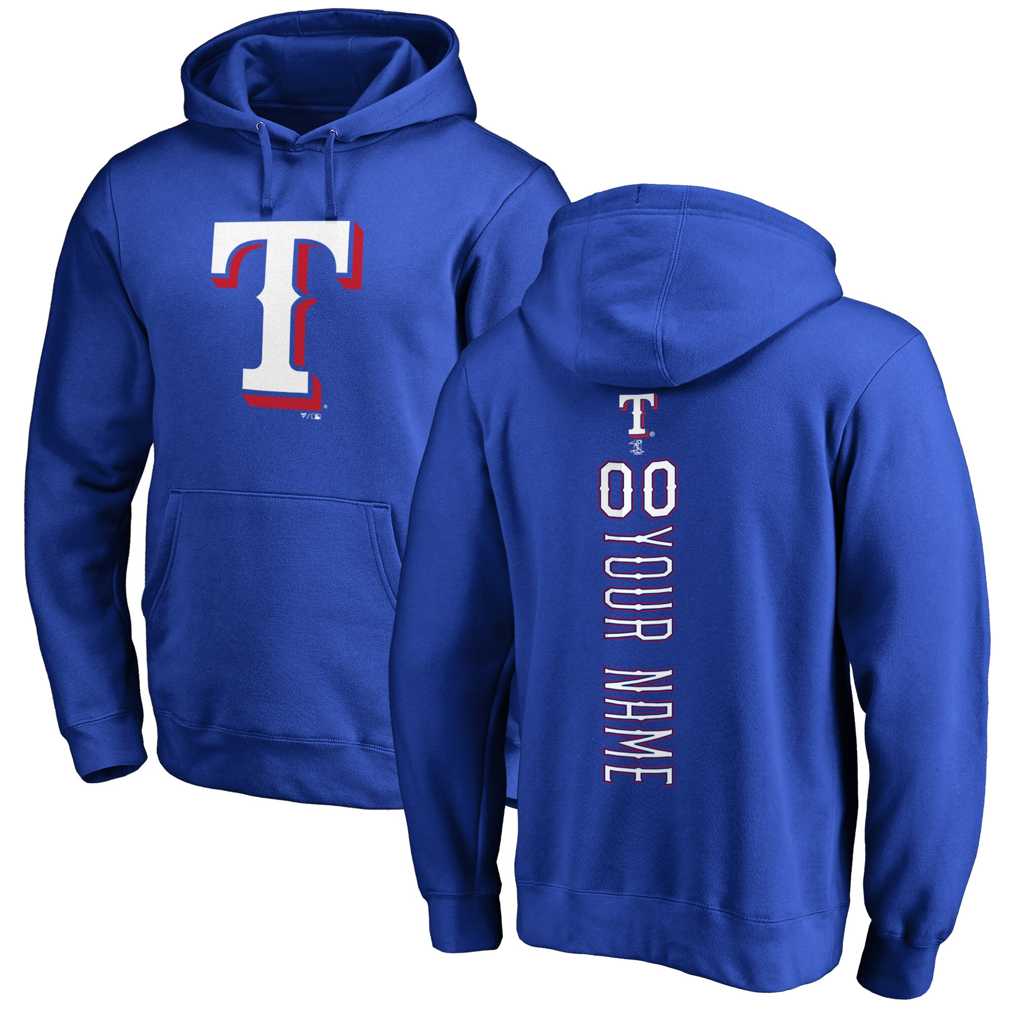 Texas Rangers Fanatics Branded Personalized Playmaker Pullover Hoodie - Royal