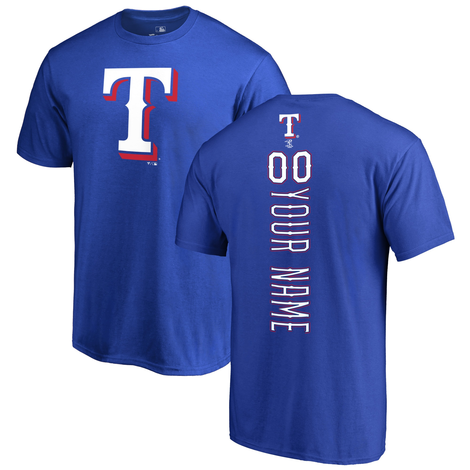 Texas Rangers Fanatics Branded Personalized Playmaker T-Shirt - Royal
