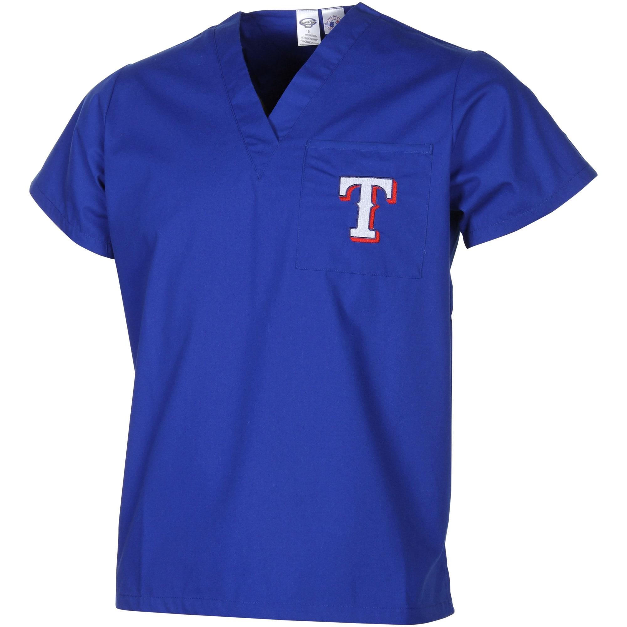 Texas Rangers Unisex Scrub Top - Royal Blue