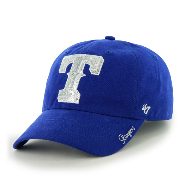 Texas Rangers '47 Women's Sparkle Clean Up Adjustable Hat - Royal