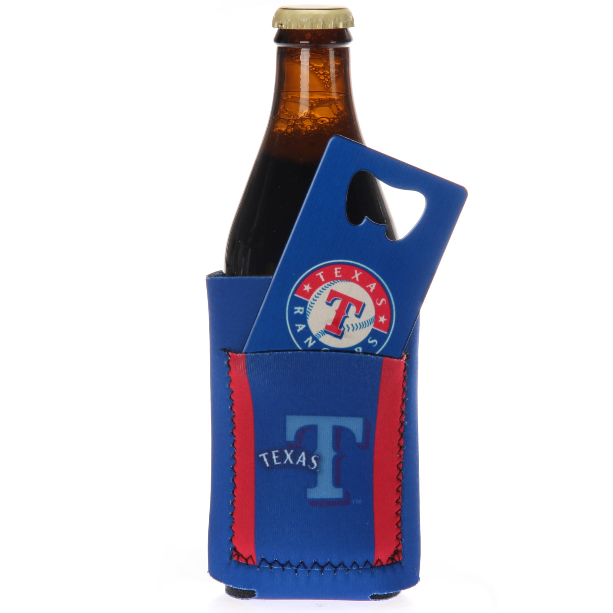 Texas Rangers Can Insulator with Pocket & Opener