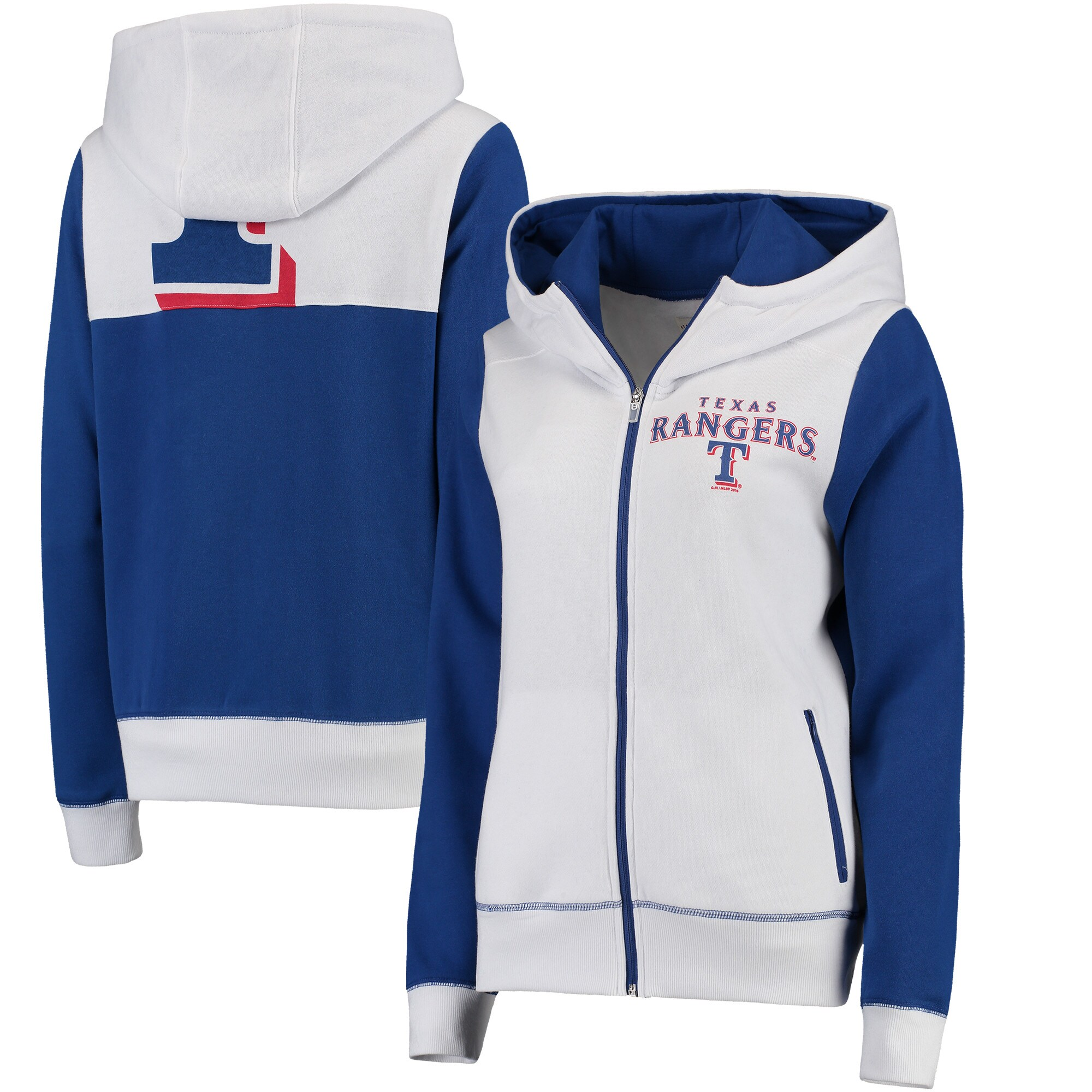 Texas Rangers G-III 4Her by Carl Banks Women's Franchise Full-Zip Hoodie - White