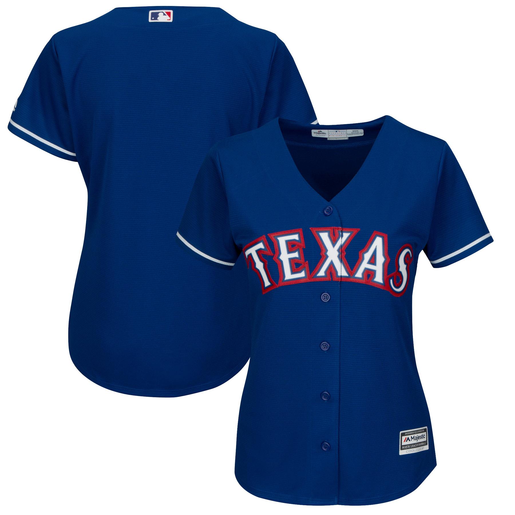 Texas Rangers Majestic Women's Alternate Plus Size Cool Base Team Jersey - Royal