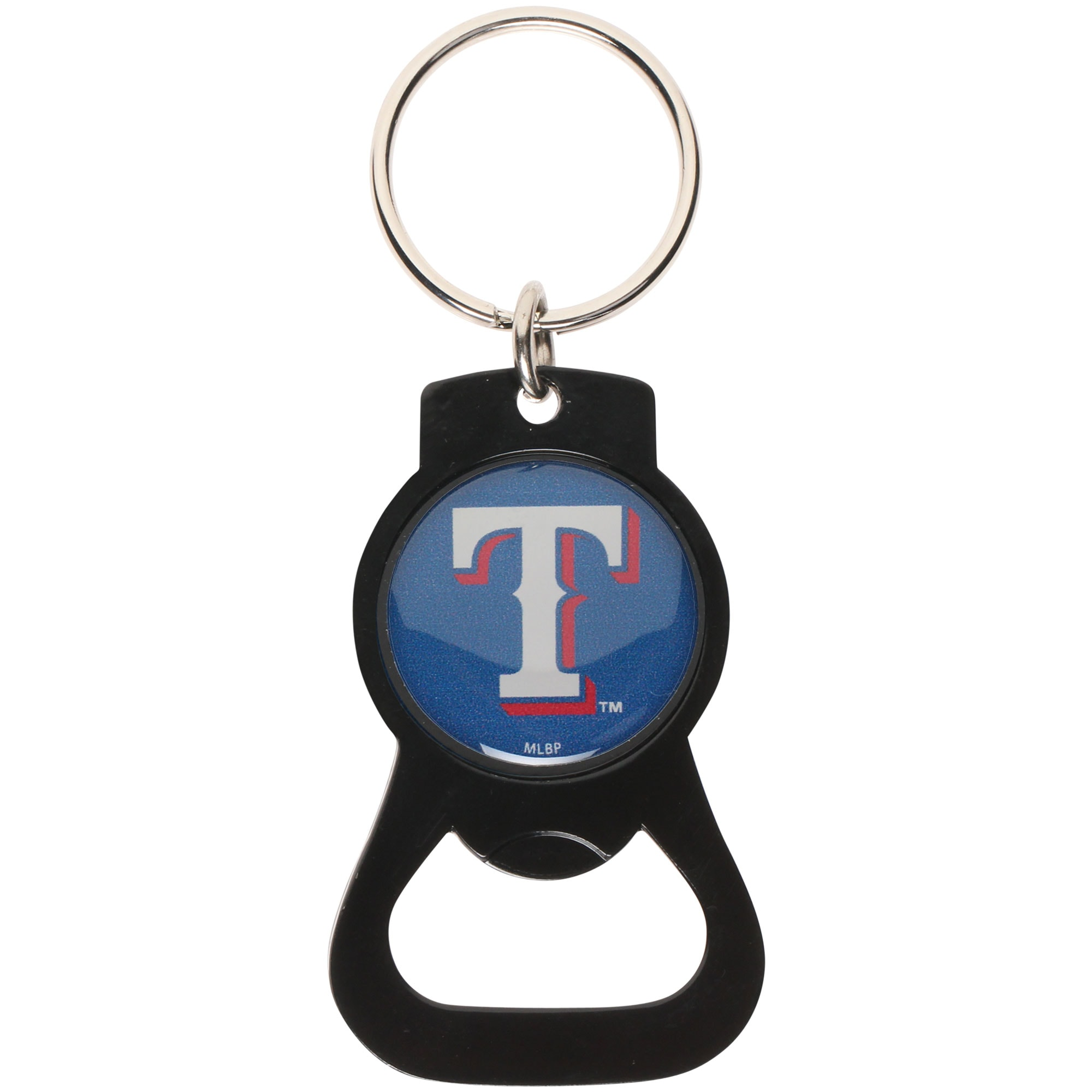 Texas Rangers Bottle Opener Keychain - Black