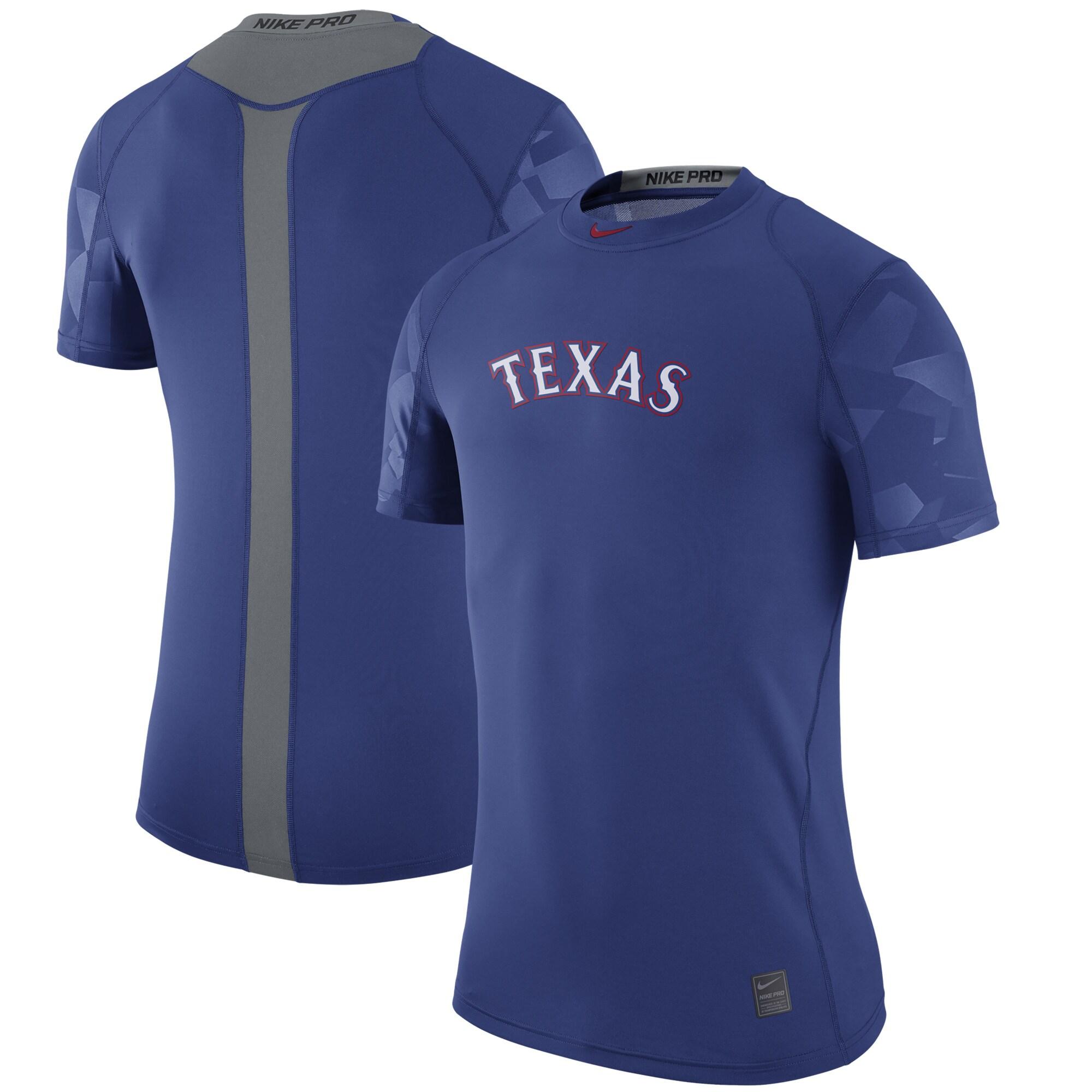 Texas Rangers Nike Pro Cool Performance T-Shirt - Royal