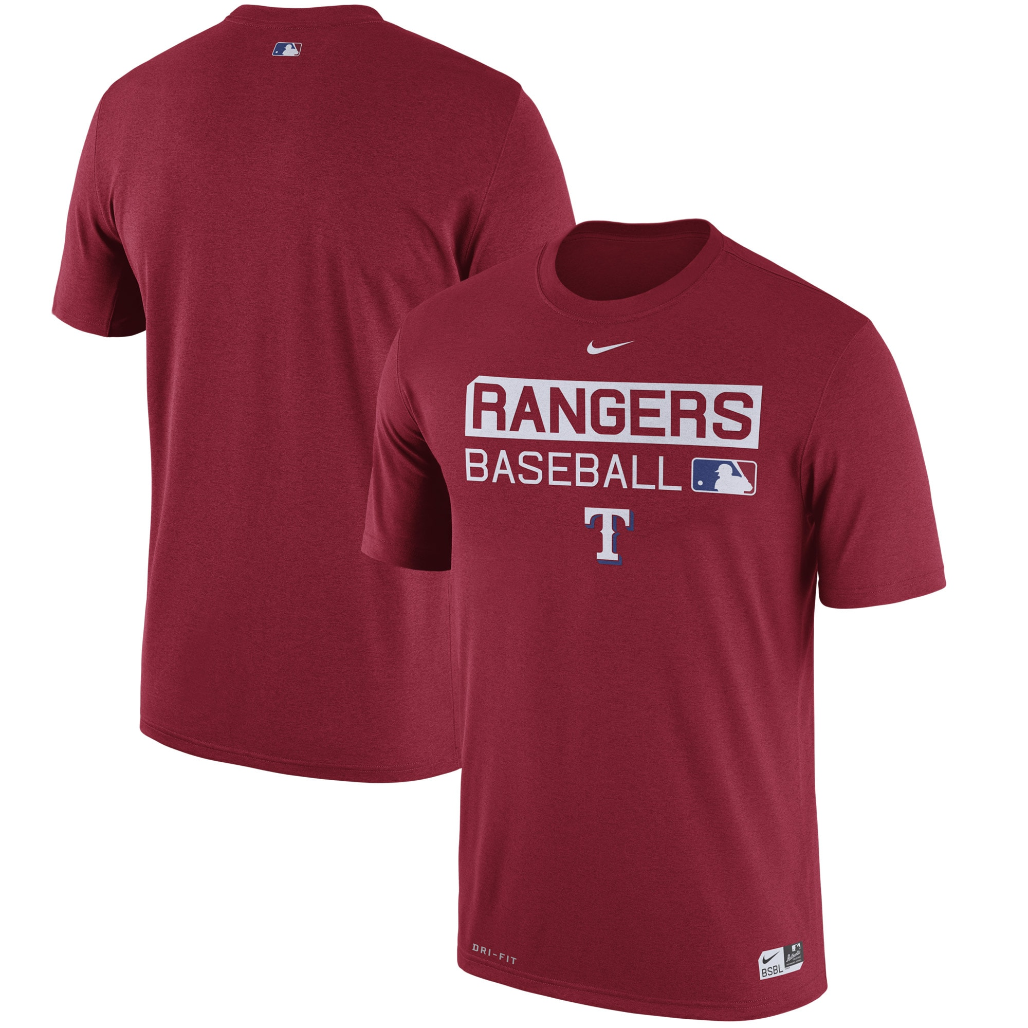 Texas Rangers Nike Authentic Collection Legend Team Issue Performance T-Shirt - Red -