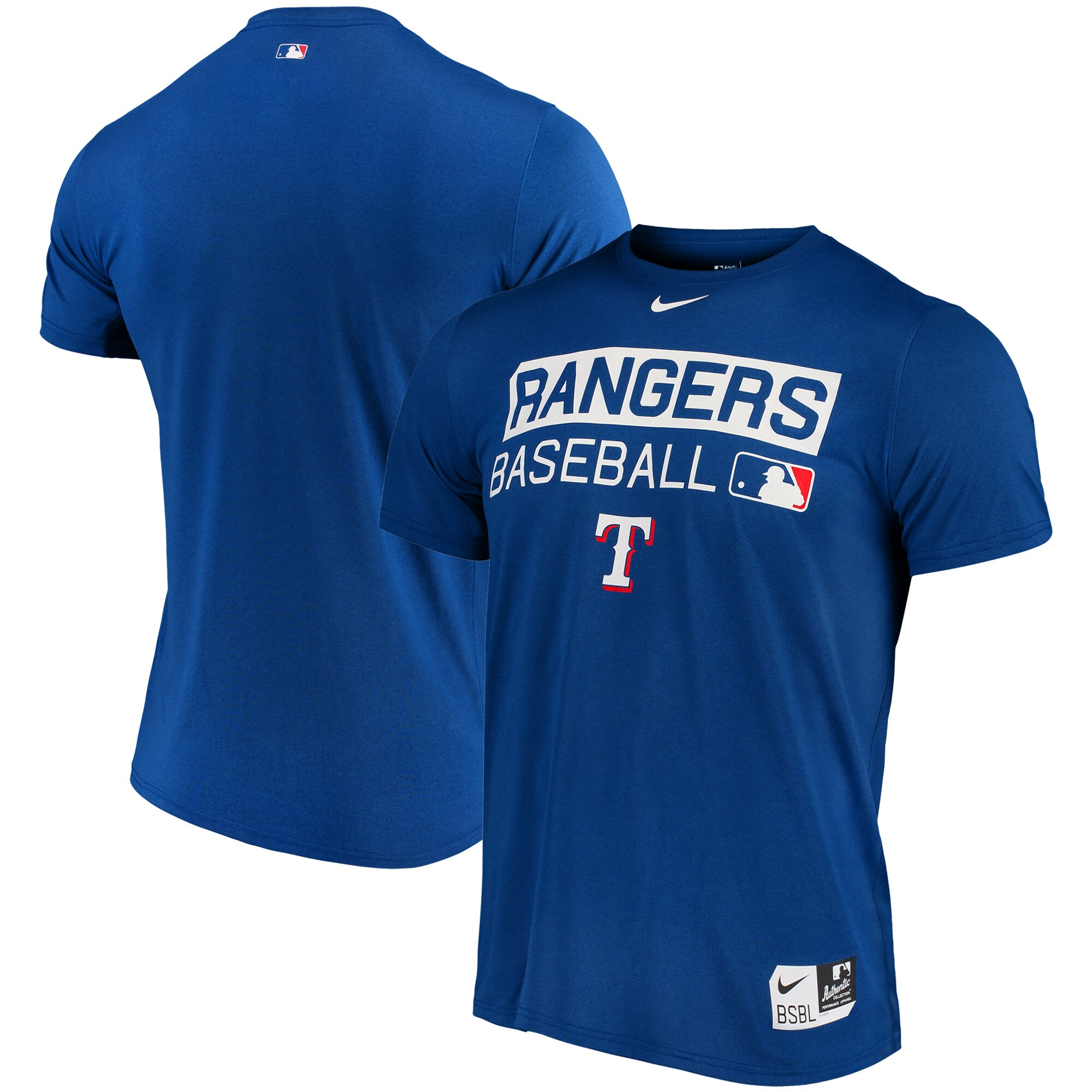 Texas Rangers Nike Authentic Collection Legend Team Issue Performance T-Shirt - Royal