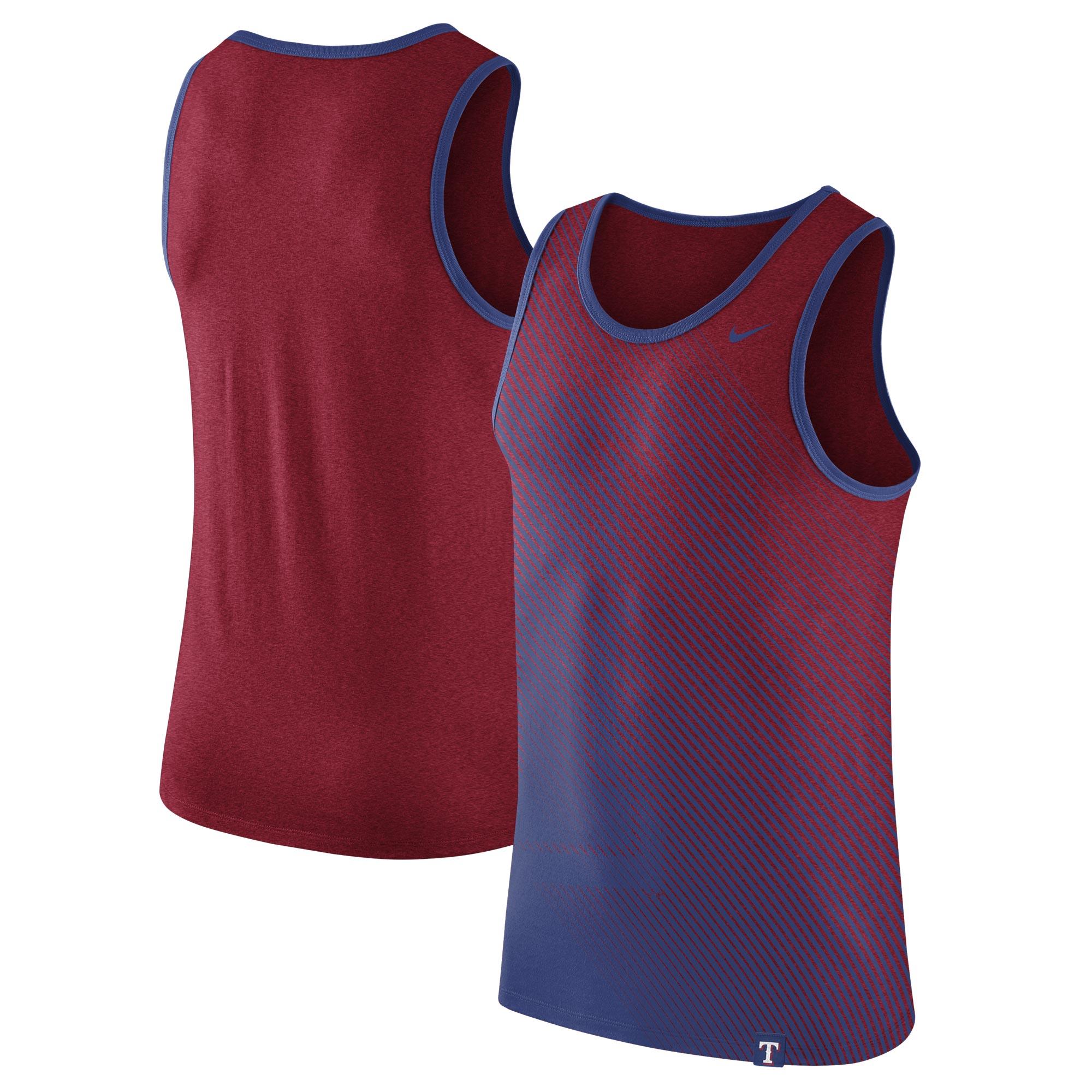Texas Rangers Nike 1.7 Tri-Blend Tank Top - Heathered Red