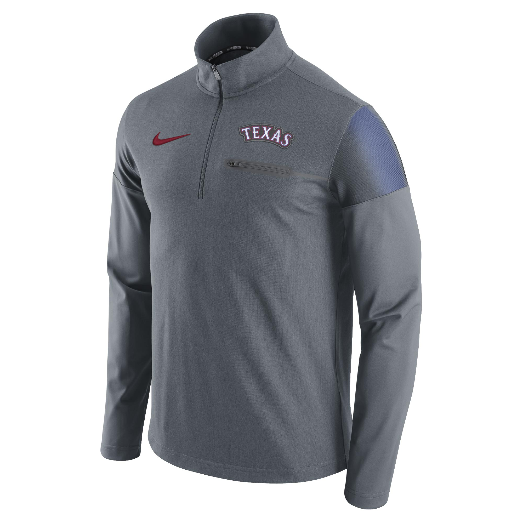 Texas Rangers Nike Elite Half-Zip Pullover Jacket - Gray
