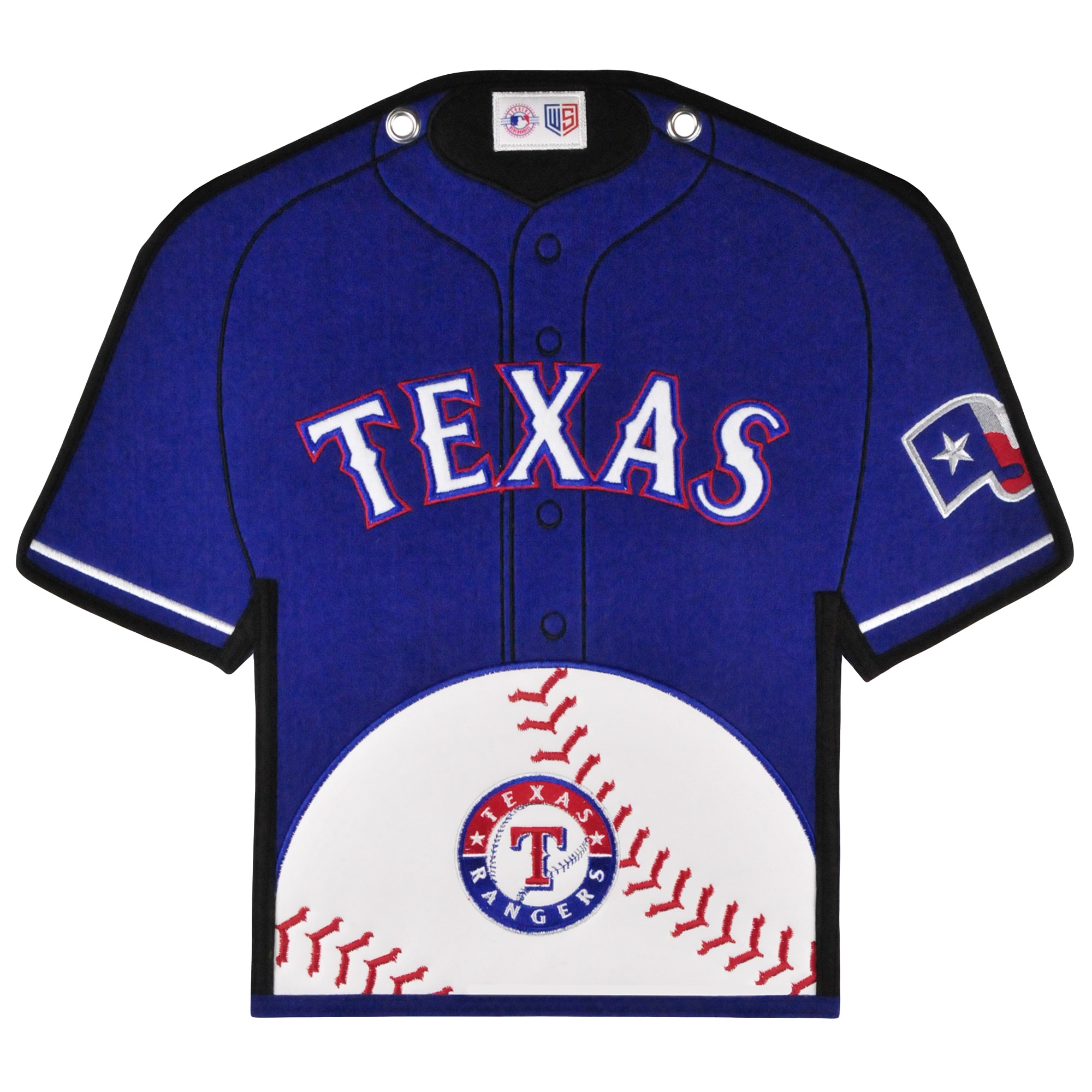 Texas Rangers 14'' x 22'' Jersey Traditions Banner - Blue/White