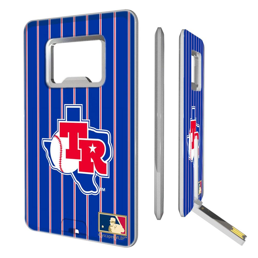 Texas Rangers 1981-1983 Cooperstown Pinstripe Credit Card USB Drive & Bottle Opener