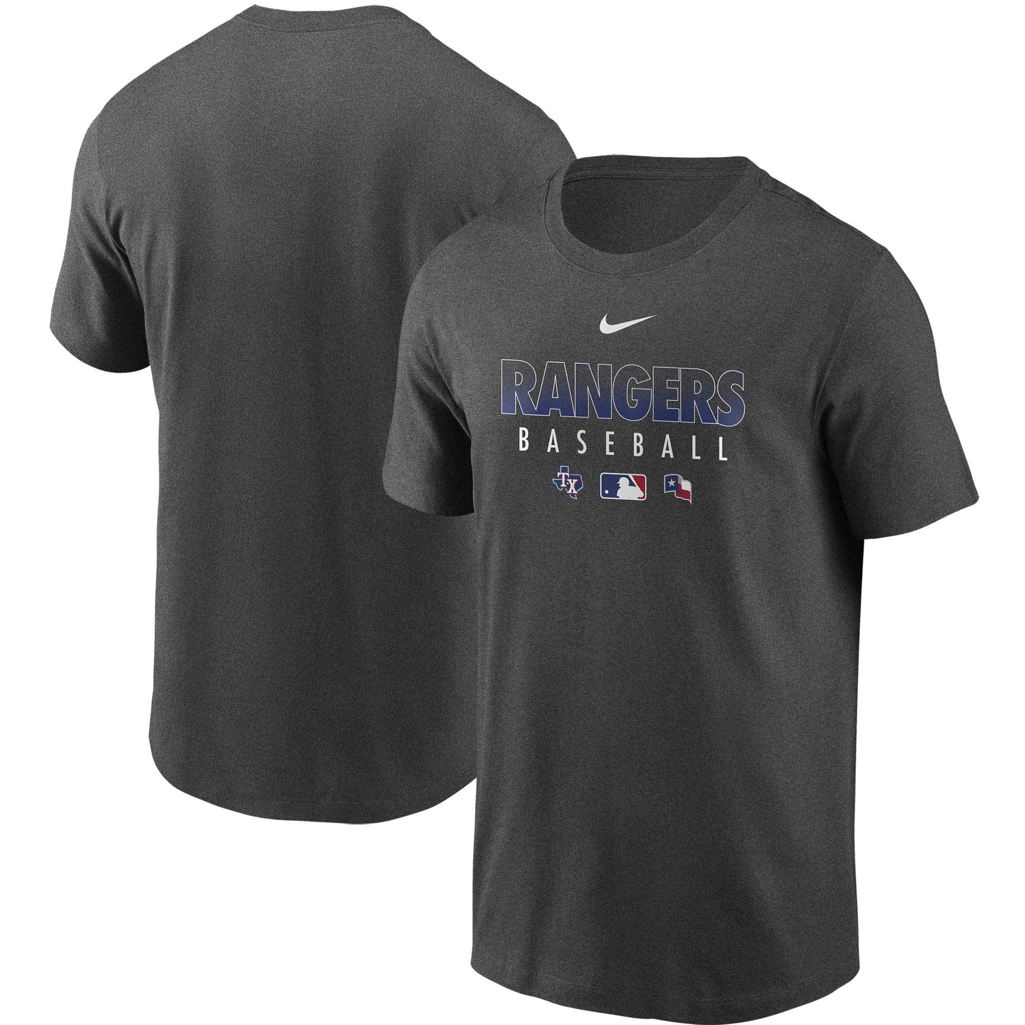 Texas Rangers Nike Authentic Collection Team Performance T-Shirt - Gray
