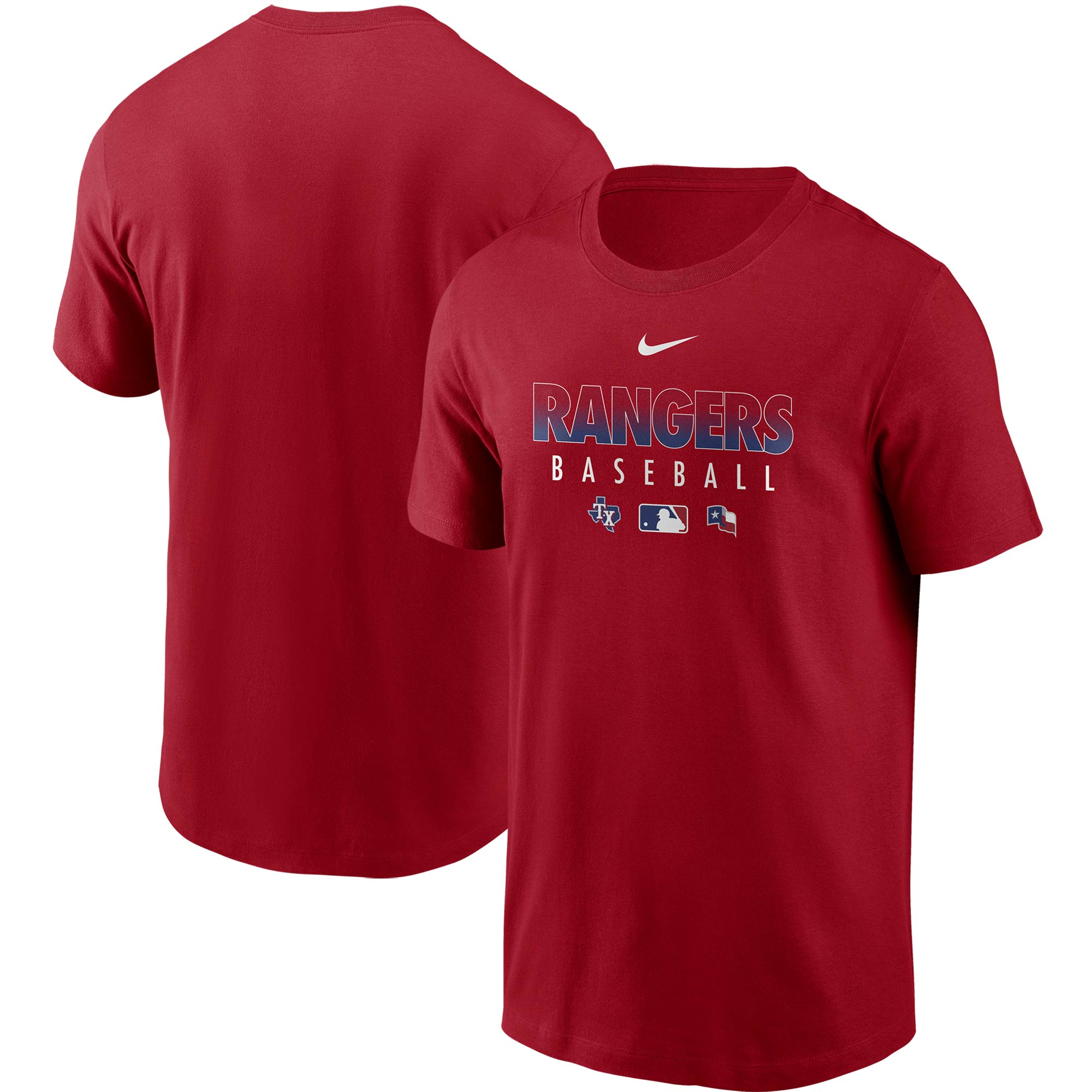 Texas Rangers Nike Authentic Collection Team Performance T-Shirt - Red
