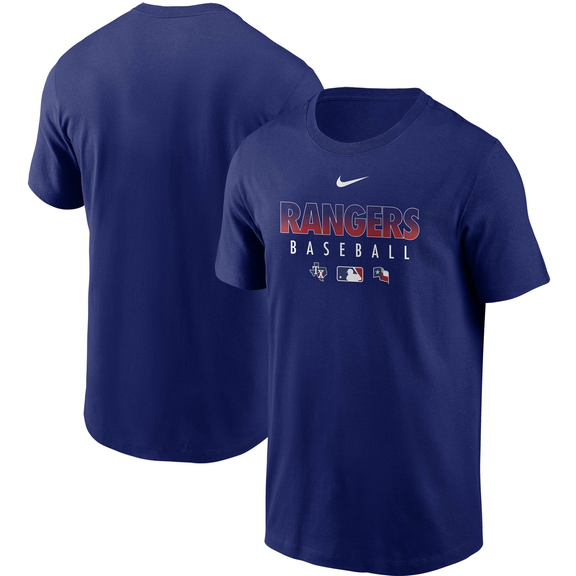 Texas Rangers Nike Authentic Collection Team Performance T-Shirt - Royal