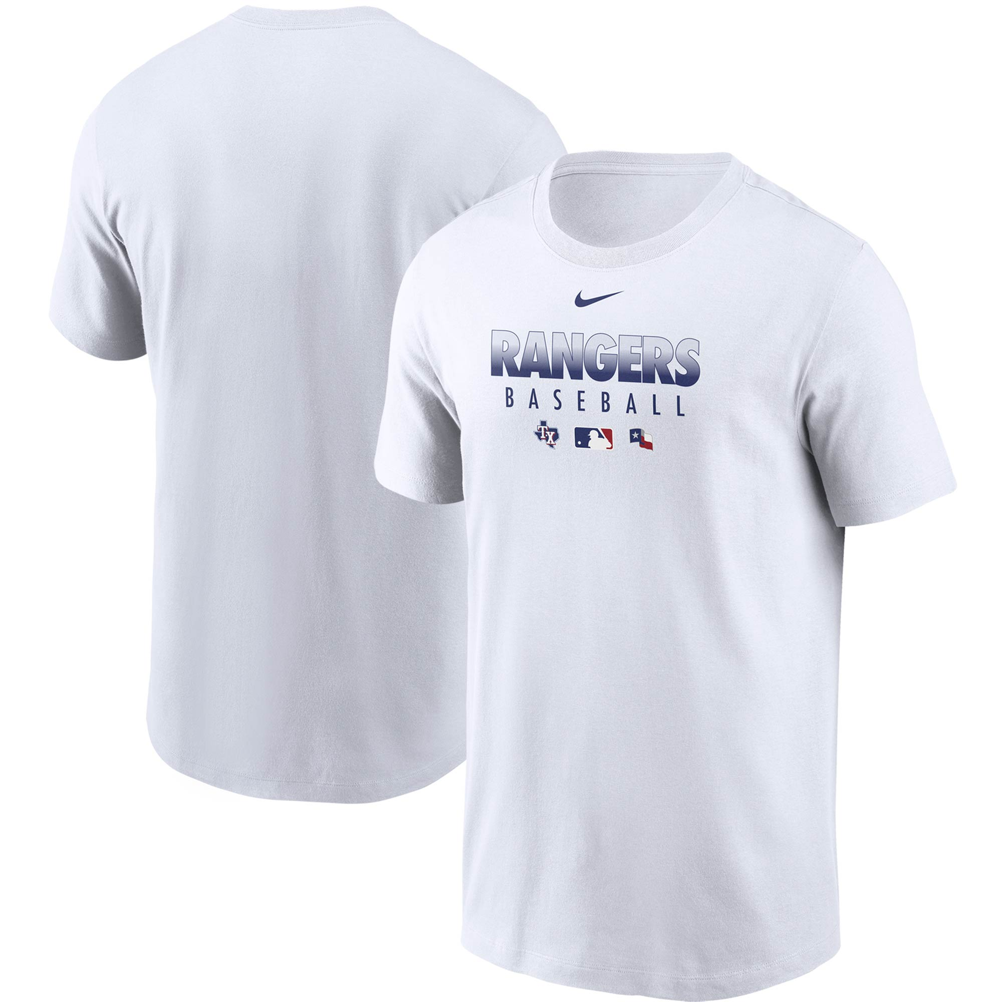 Texas Rangers Nike Authentic Collection Team Performance T-Shirt - White