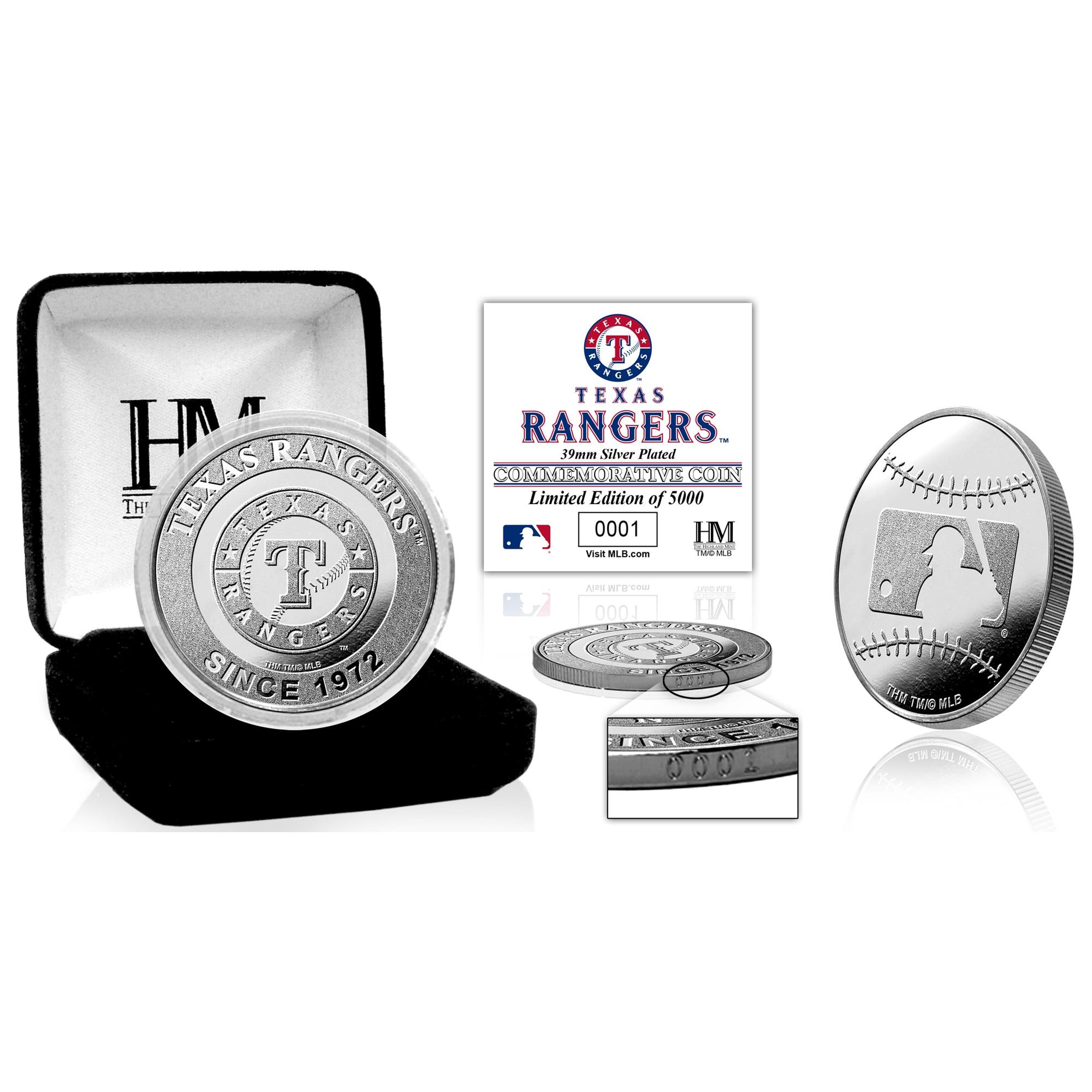 Texas Rangers Highland Mint Silver Mint Coin