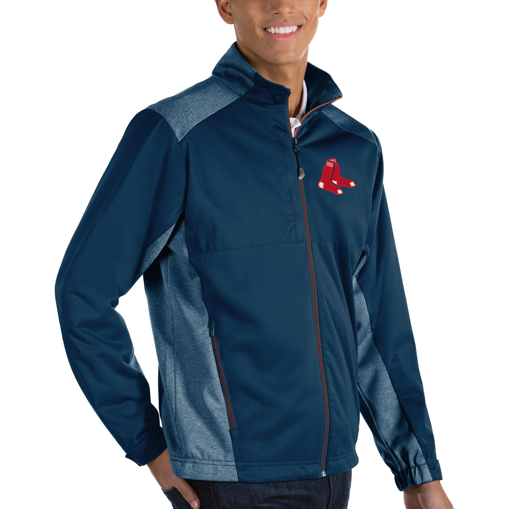 Boston Red Sox Antigua Revolve Full-Zip Jacket - Navy