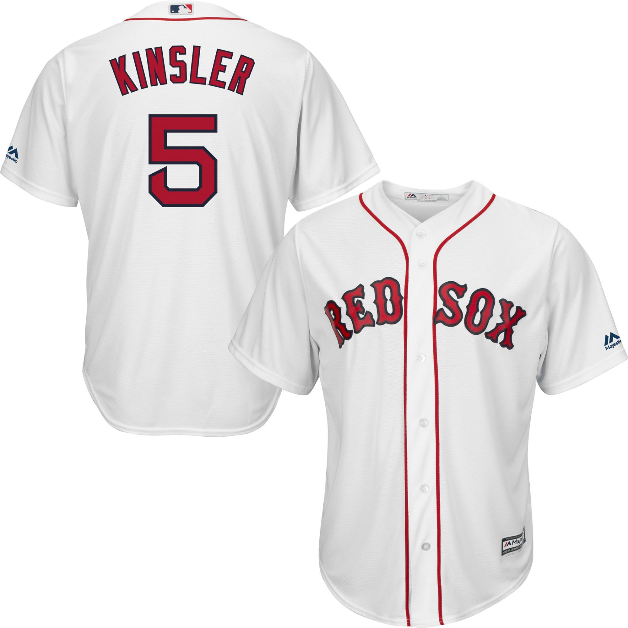 Ian Kinsler Boston Red Sox Majestic Home Official Cool Base Player Jersey - White