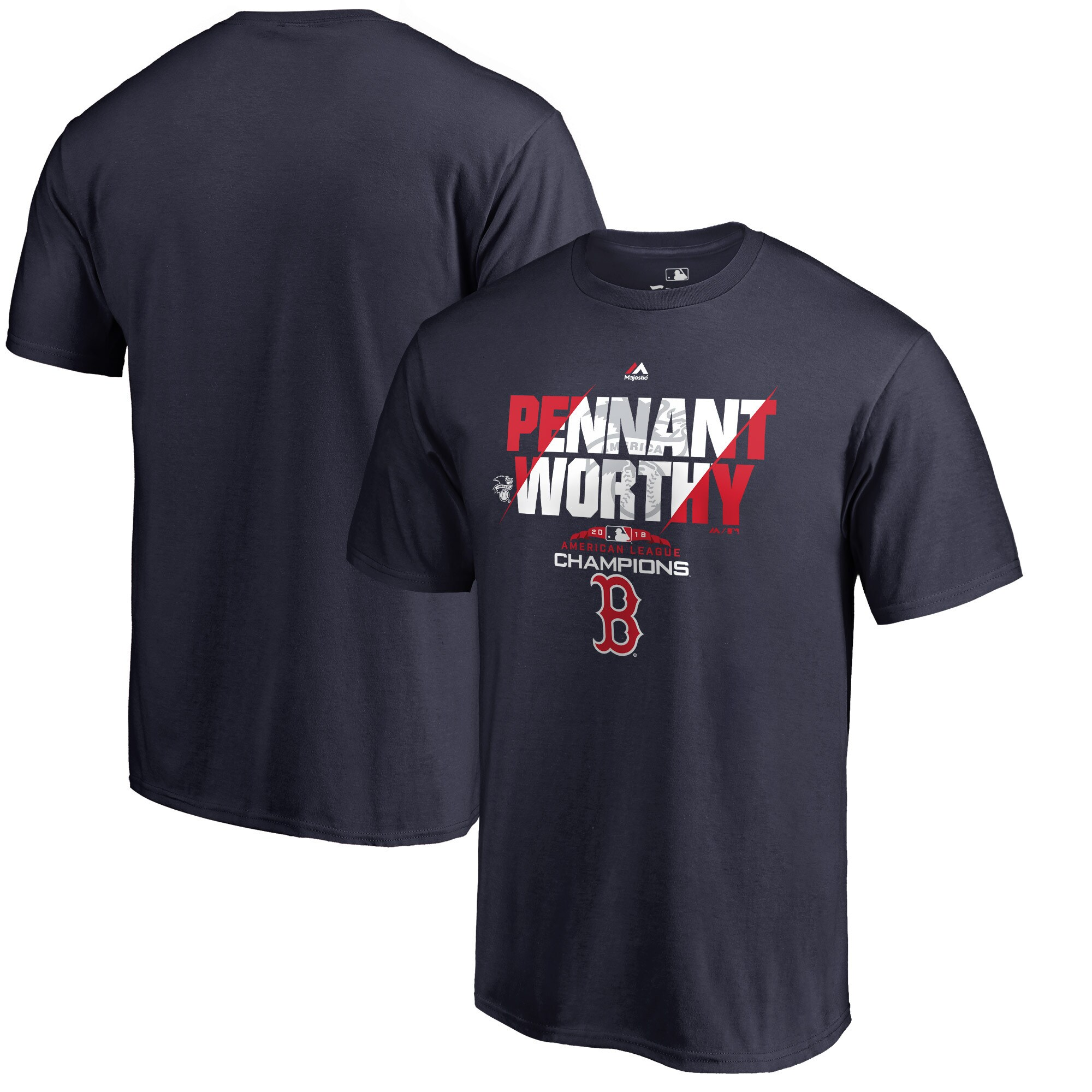 Boston Red Sox Majestic 2018 American League Champions Heater T-Shirt - Navy