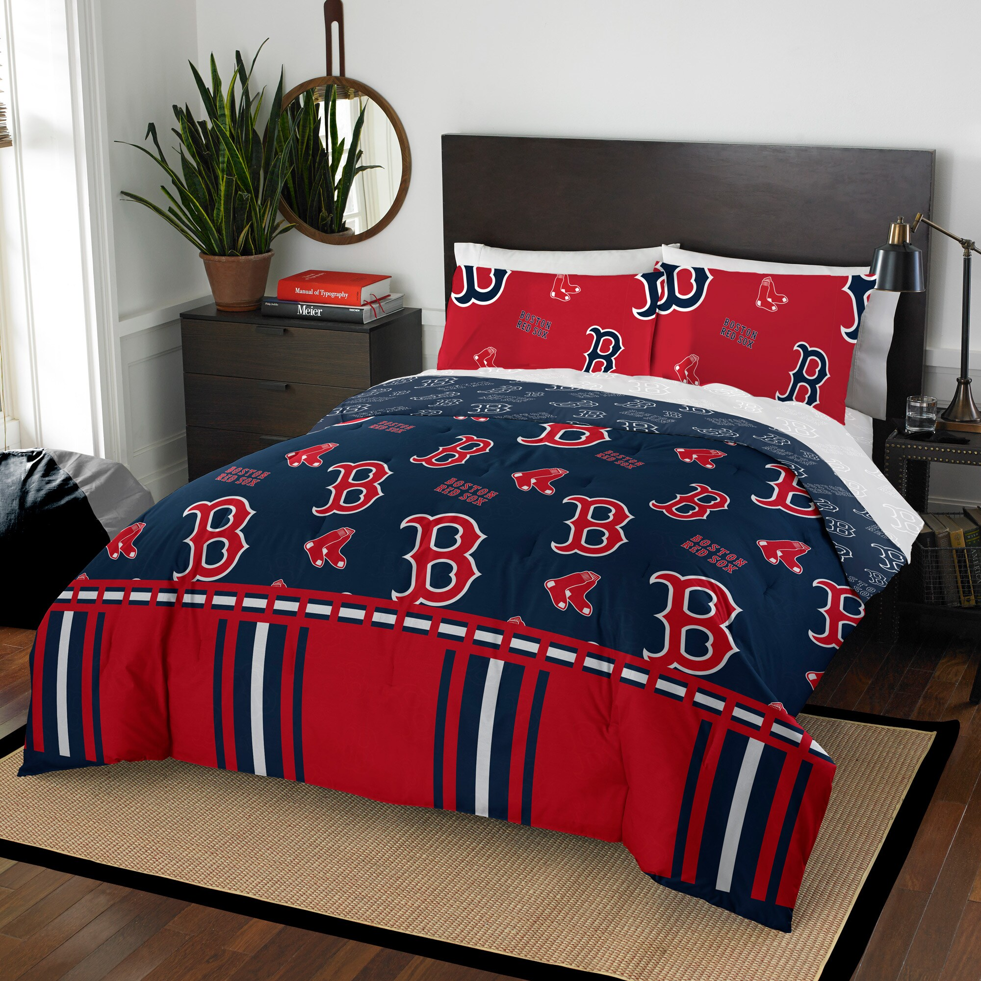 Boston Red Sox The Northwest Company 5-Piece Queen Bed in a Bag Set