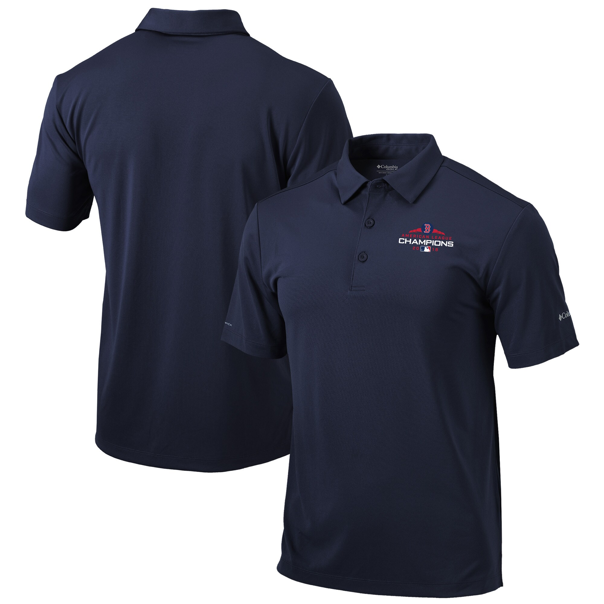 Boston Red Sox Columbia 2018 American League Champions Drive Polo - Navy