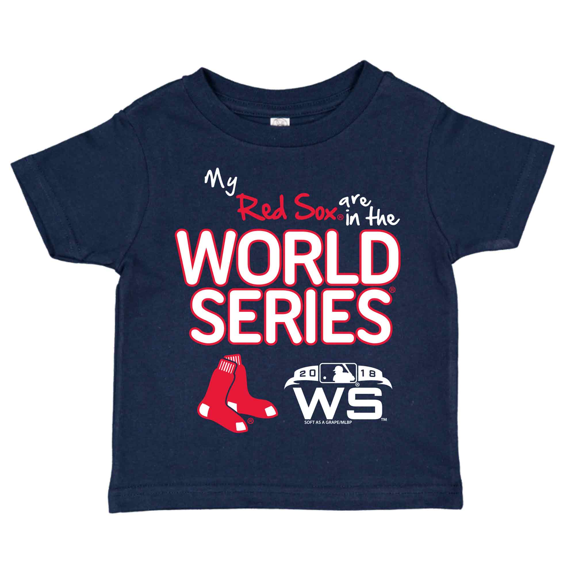 Boston Red Sox Soft as a Grape Toddler 2018 World Series Bound T-Shirt - Navy