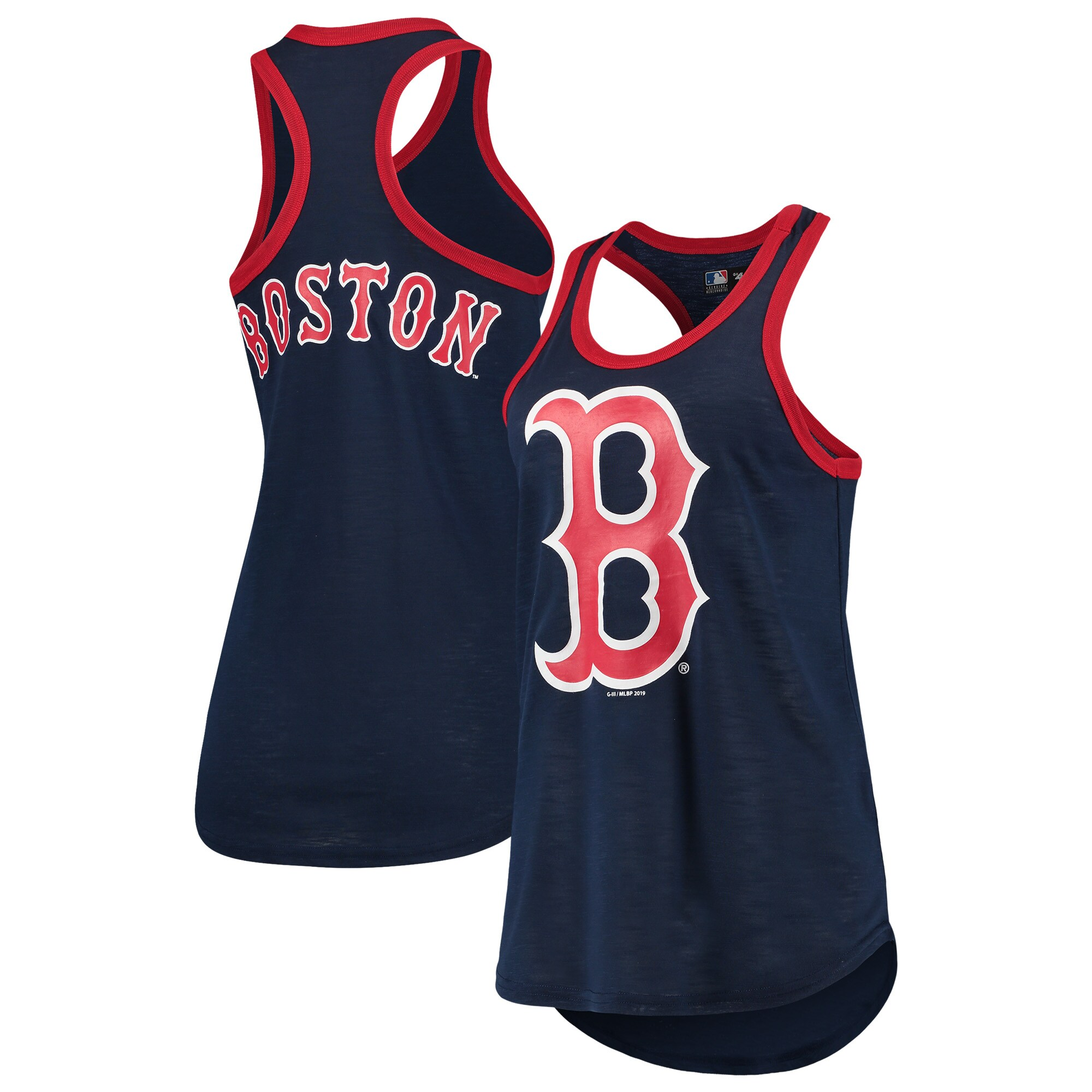 Boston Red Sox G-III 4Her by Carl Banks Women's Team Color Tater Tank Top - Navy