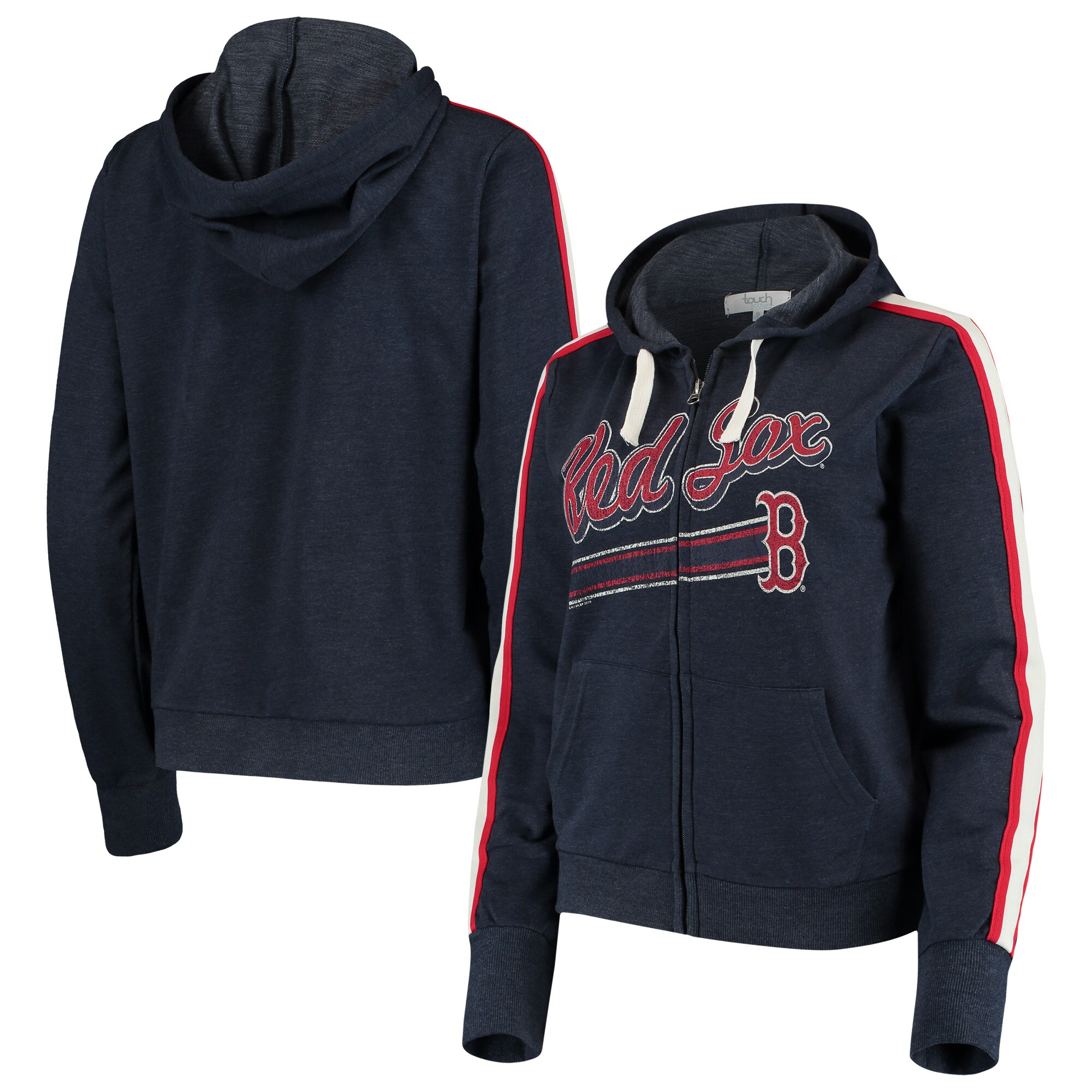Boston Red Sox Touch by Alyssa Milano Women's Conference Full-Zip Hoodie - Navy