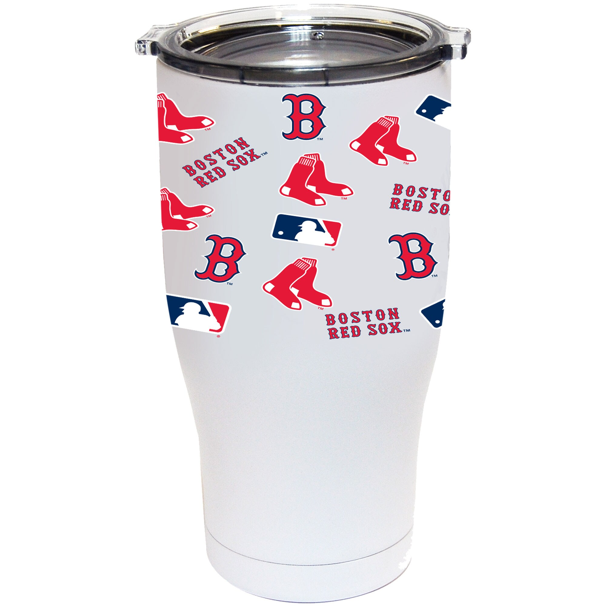 Boston Red Sox 24oz. Powder Coated Full Wrap Tumbler