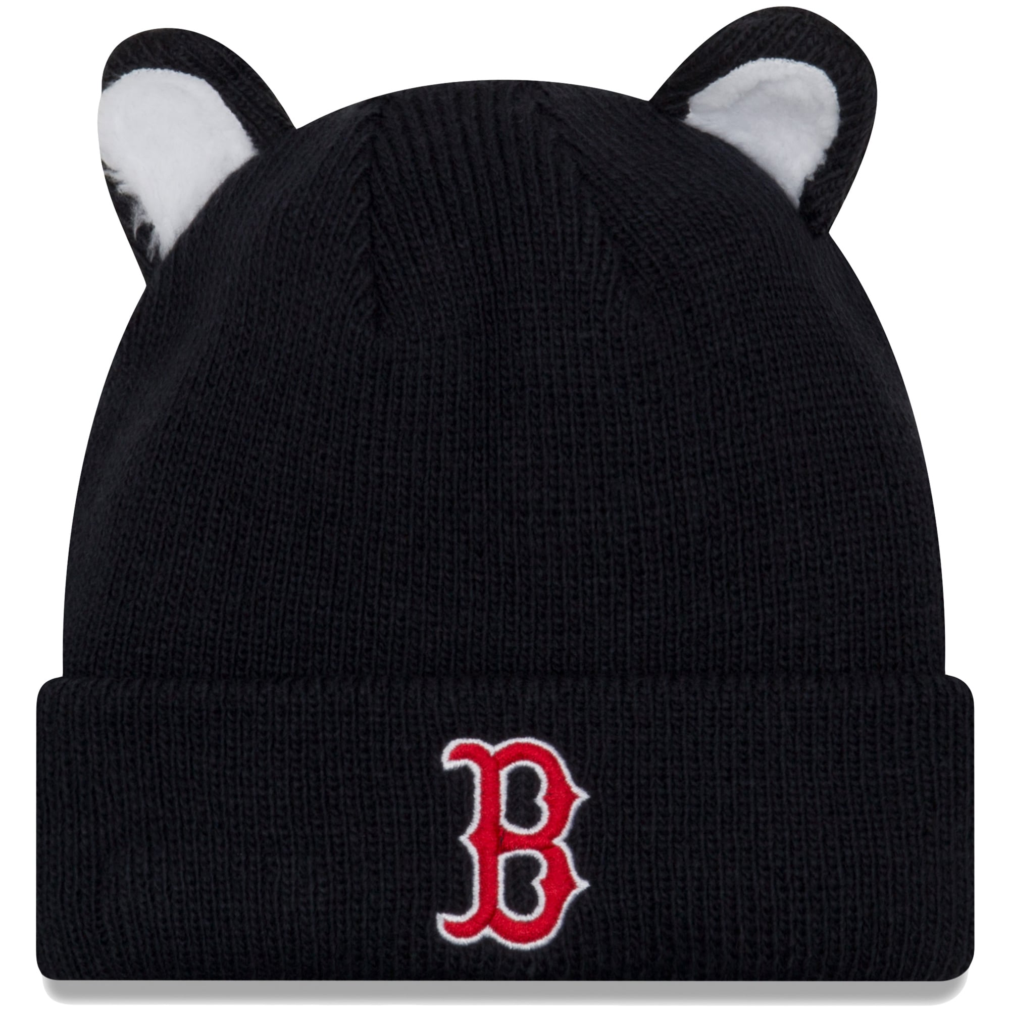 Boston Red Sox New Era Toddler Cozy Cutie Cuffed Knit Hat - Navy