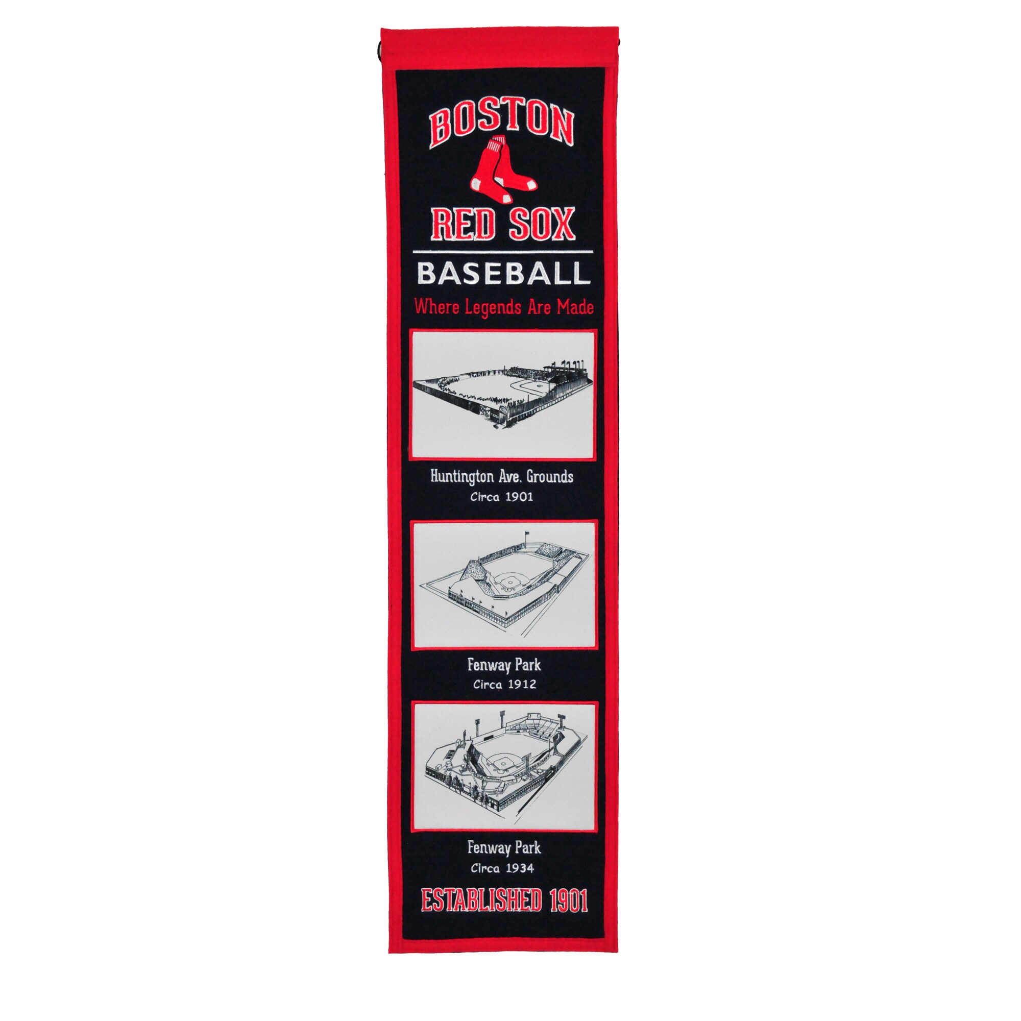 "Boston Red Sox 8"" x 32"" Stadium Evolution Banner"