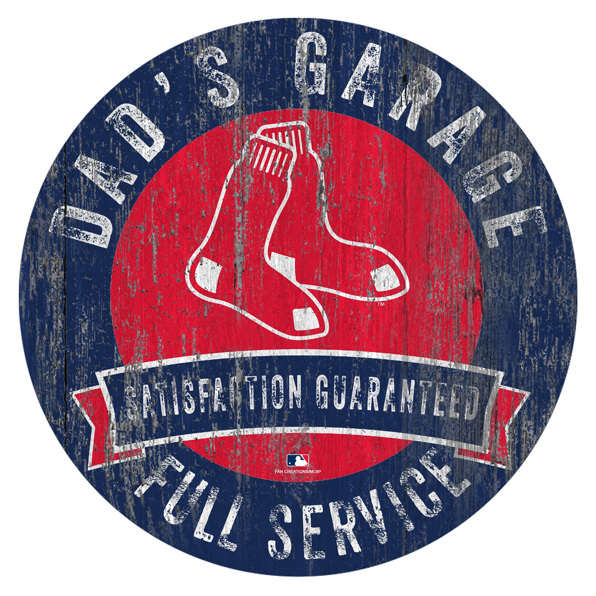 "Boston Red Sox 12"" x 12"" Dad's Garage Sign"