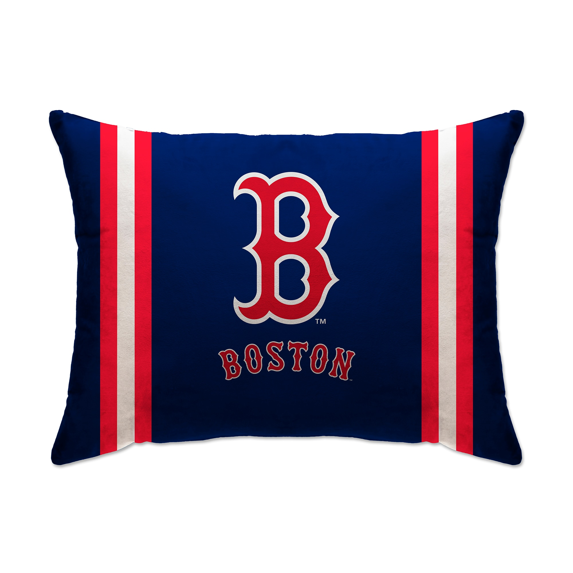 "Boston Red Sox 20"" x 26"" Plush Bed Pillow - Blue"